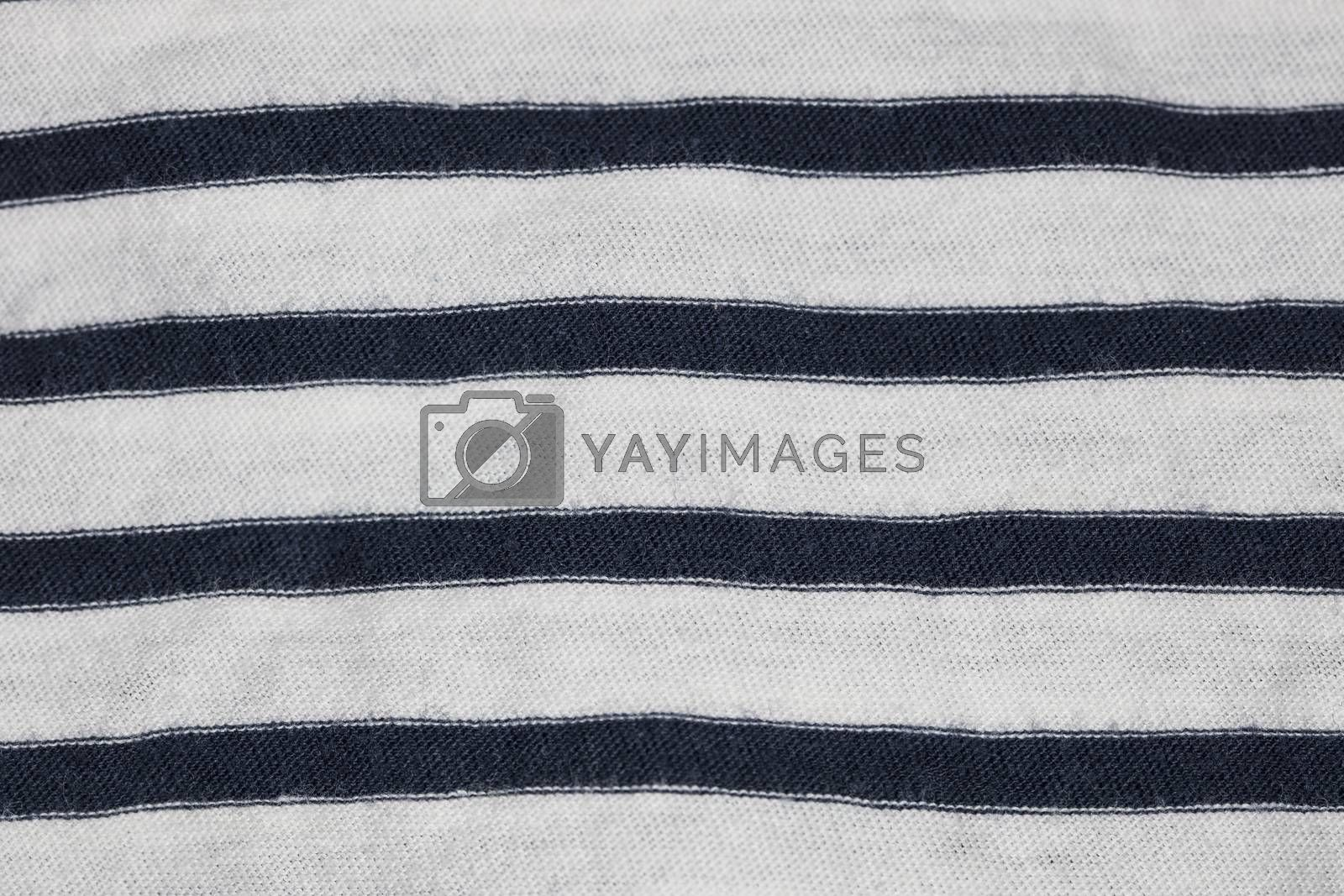 fabric in white and black stripes, closeup