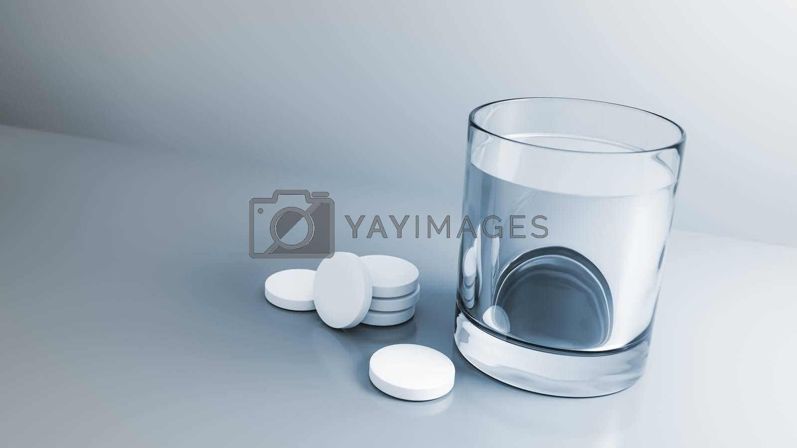 glass of water with some tablets by magann