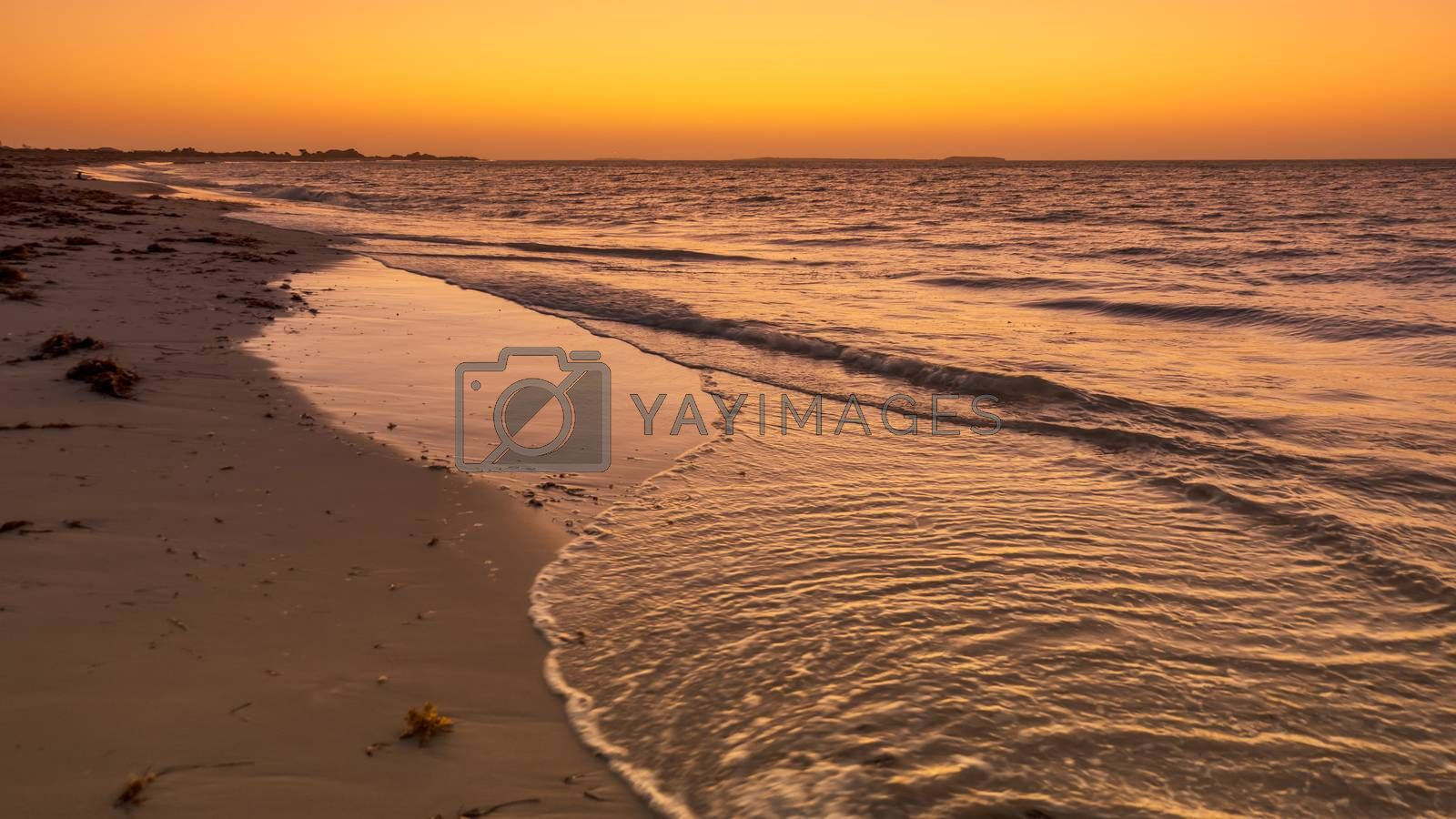 An image of a sunset at Jurian Bay western Australia