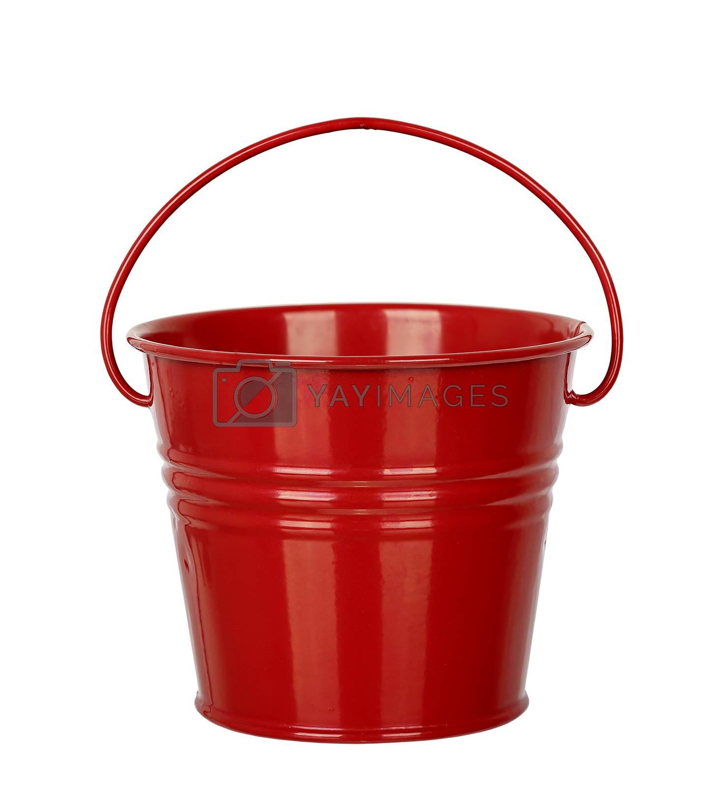 empty bucket isolated on white