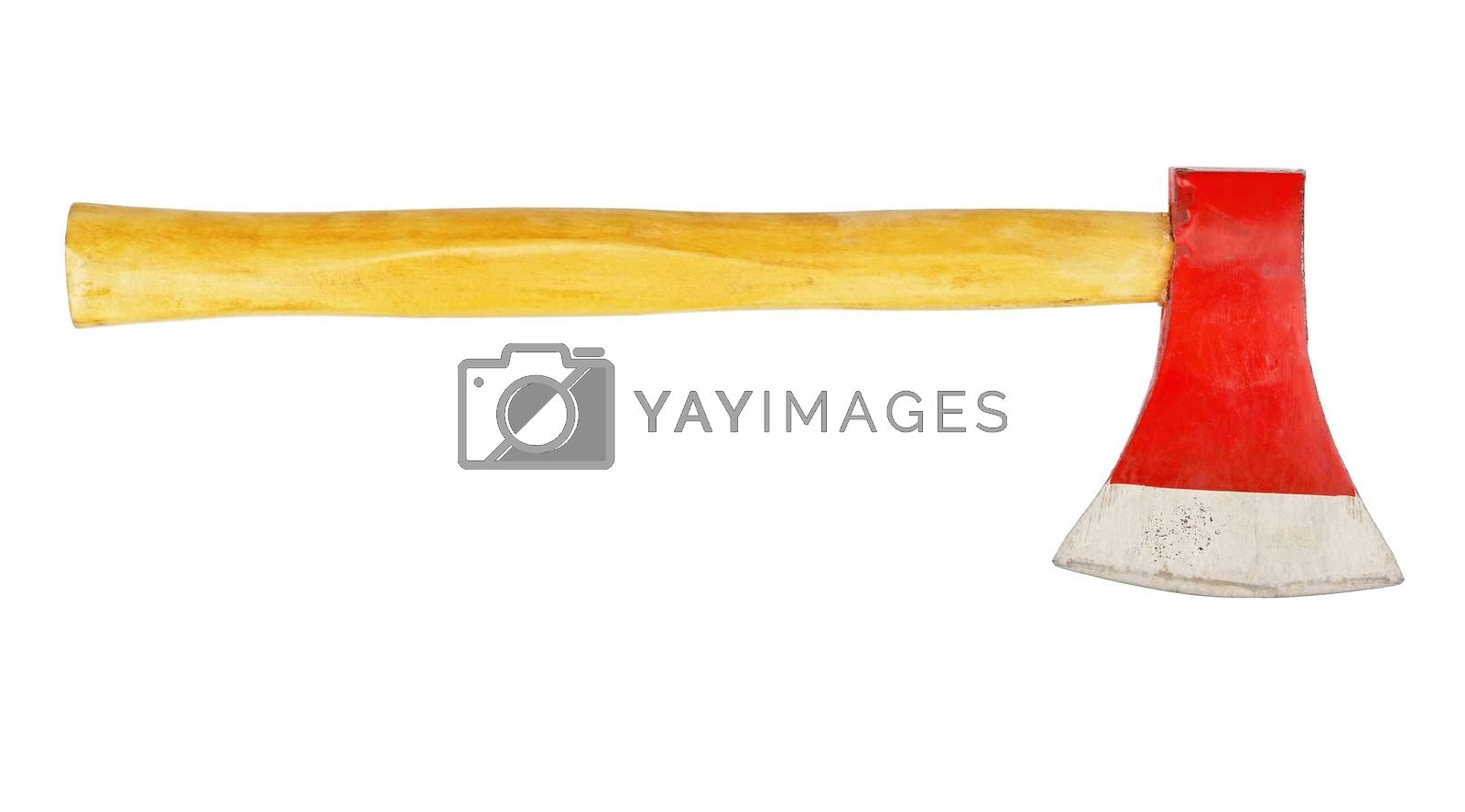 axe isolated on white