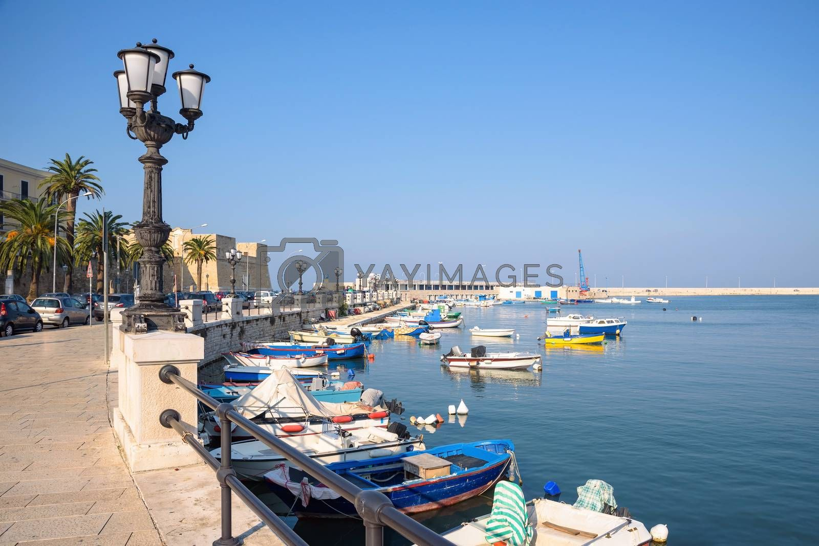 View of the port of Bari, Apulia, Italy