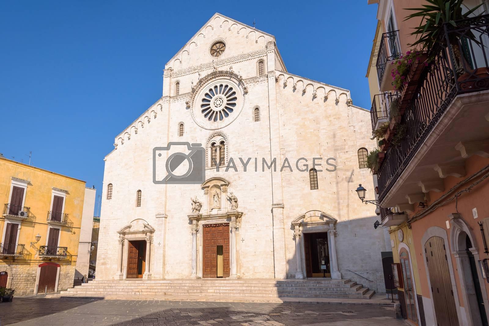 Facade of the Cathedral of San Sabino in Bari, Apulia, Italy