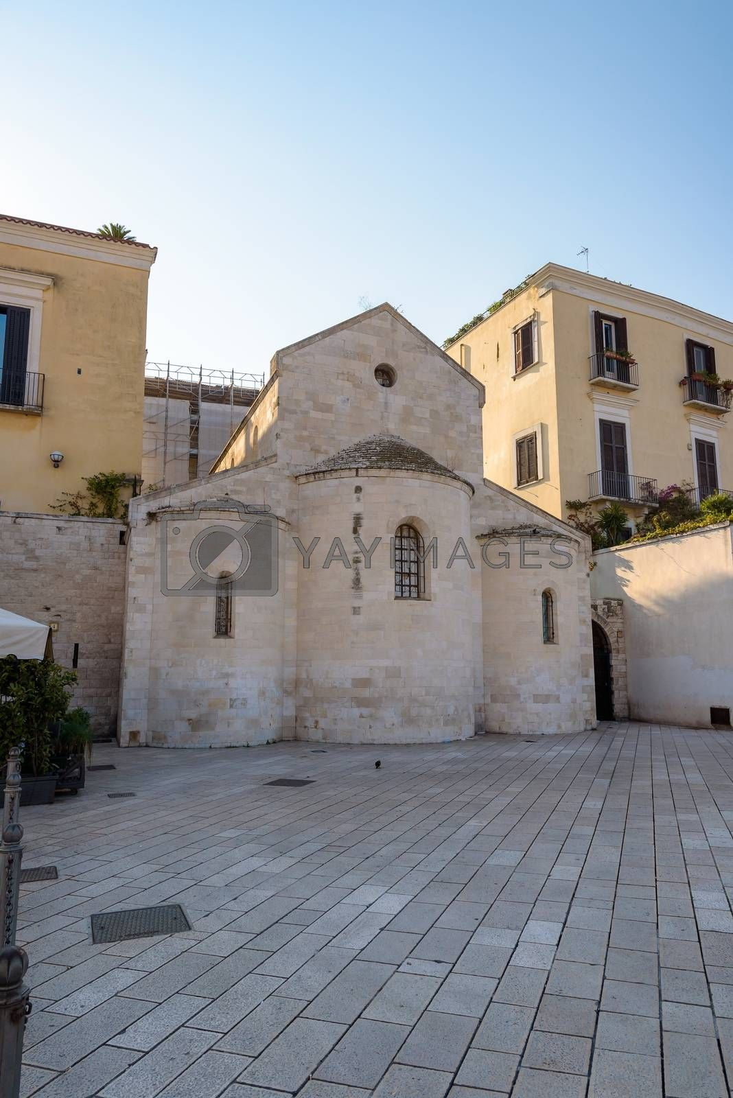 Vallisa Church building on the Ferrarese square in Bari, Apulia, Italy