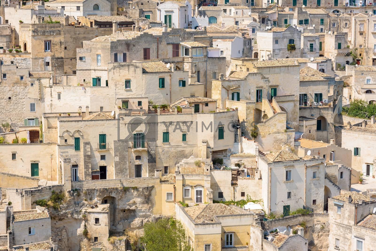 Architecture of the Sassi of Matera, Basilicata, Italy