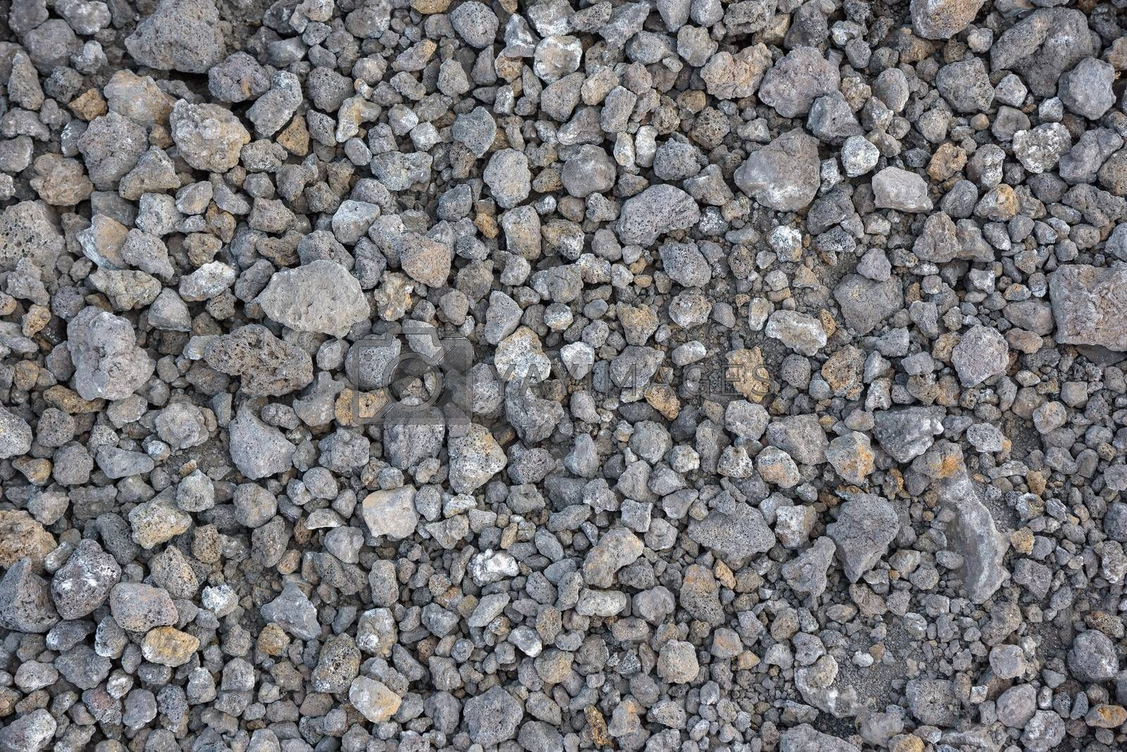 Natural background or texture made of volcanic rocks