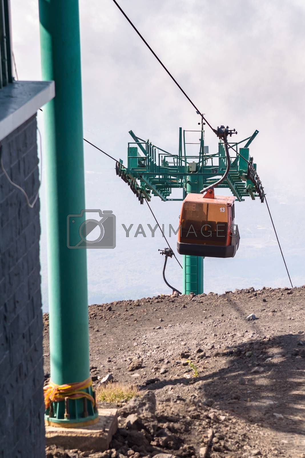 Upper station of the cable car on Mount Etna, Sicily, Italy