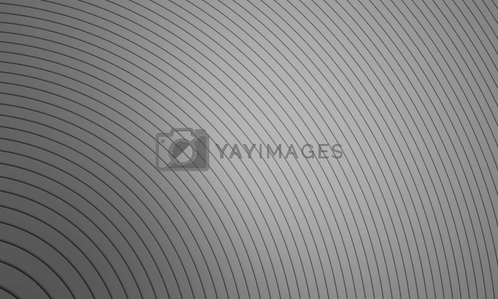 Black and gray wave stripe optical abstract design. Vector background. curved lines. 3D rendering.