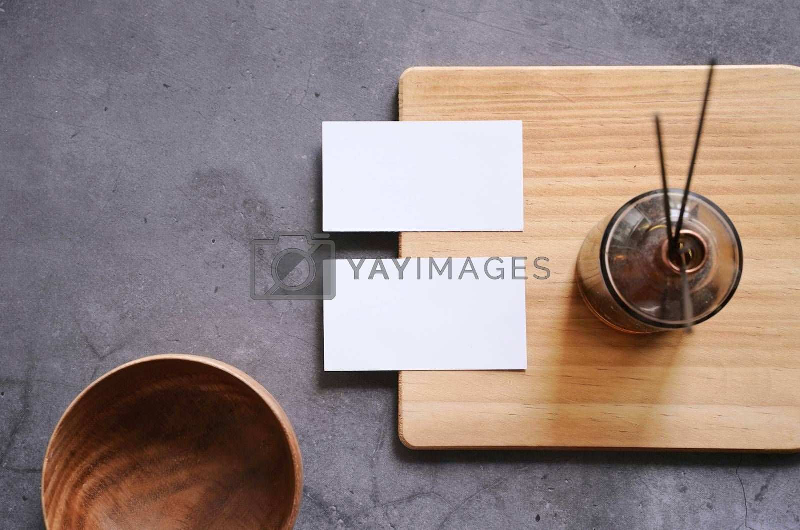 Royalty free image of Flat lay branding identity of spa and healthcare business items  by nuchylee