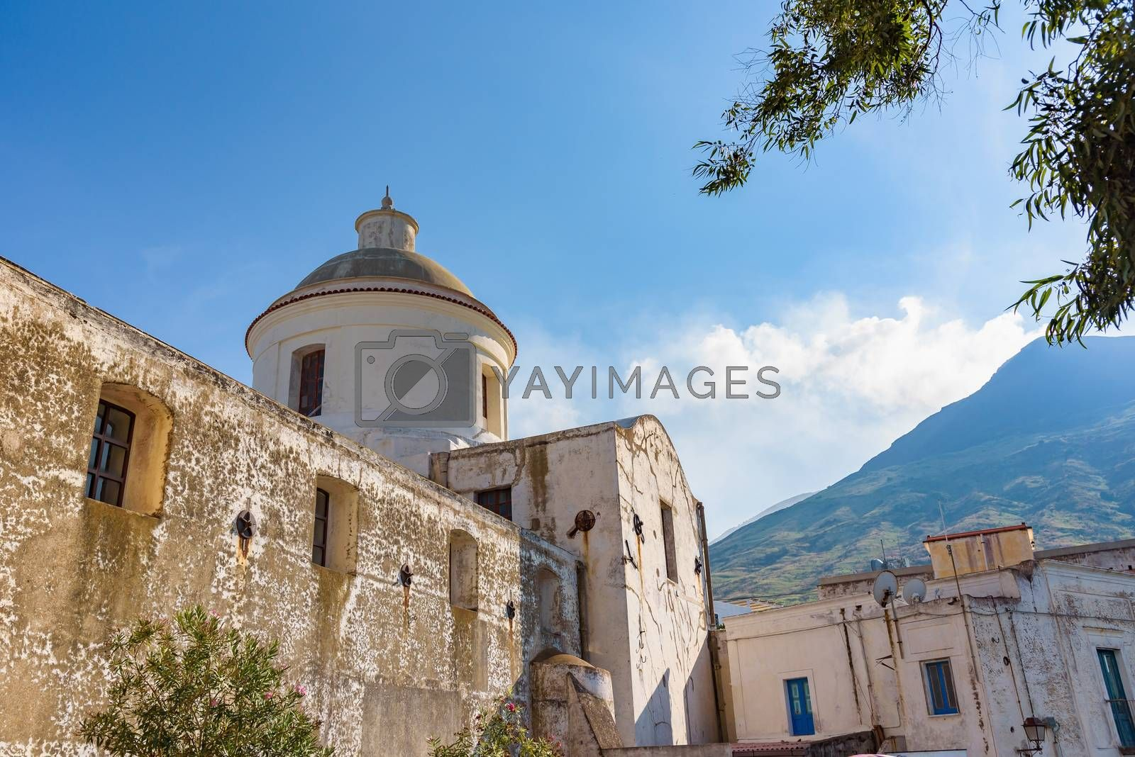Church of San Vincenzo Ferreri in Stromboli village, Aeolian Islands, Italy
