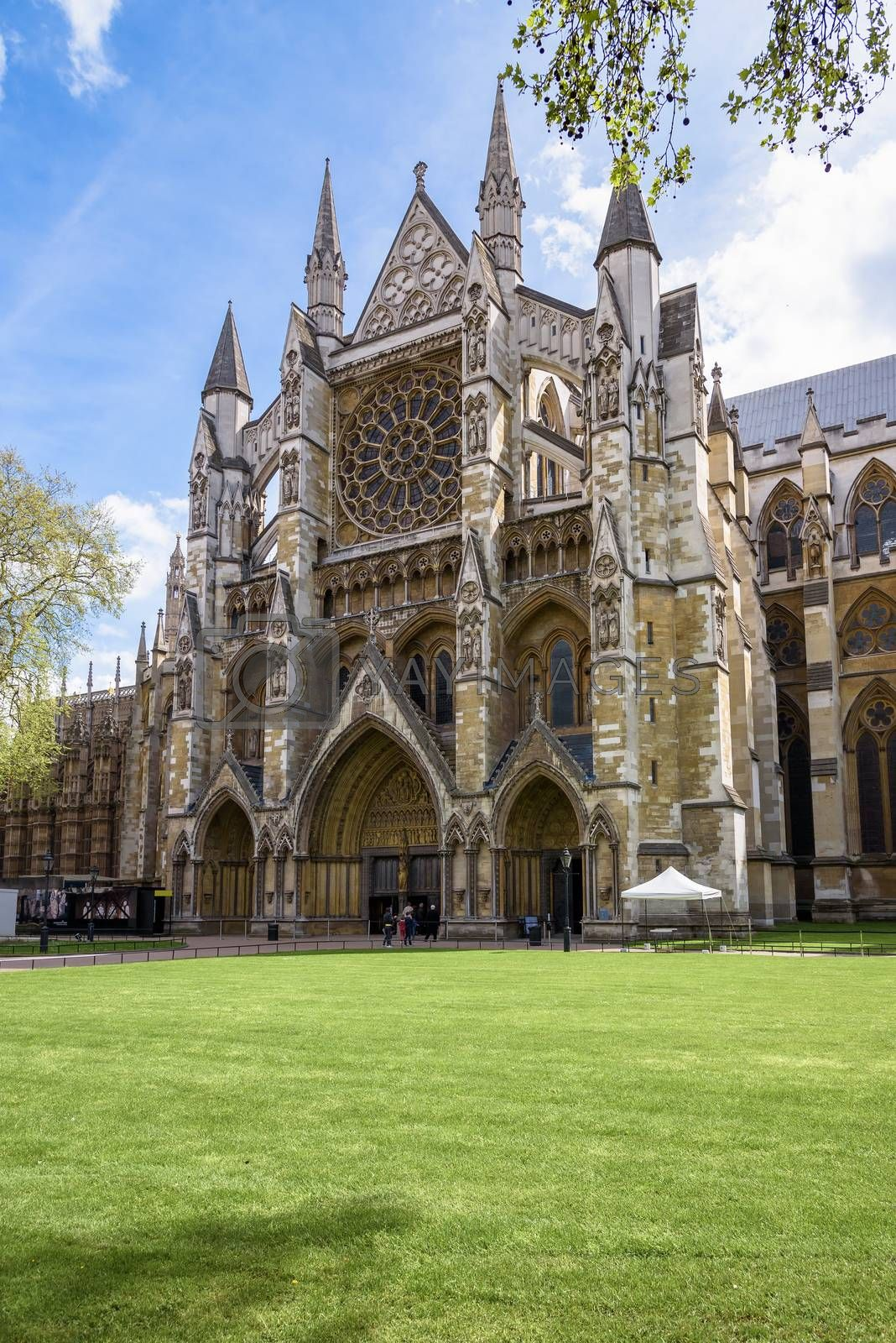 Northern entrance to the Westminster Abbey in London, UK