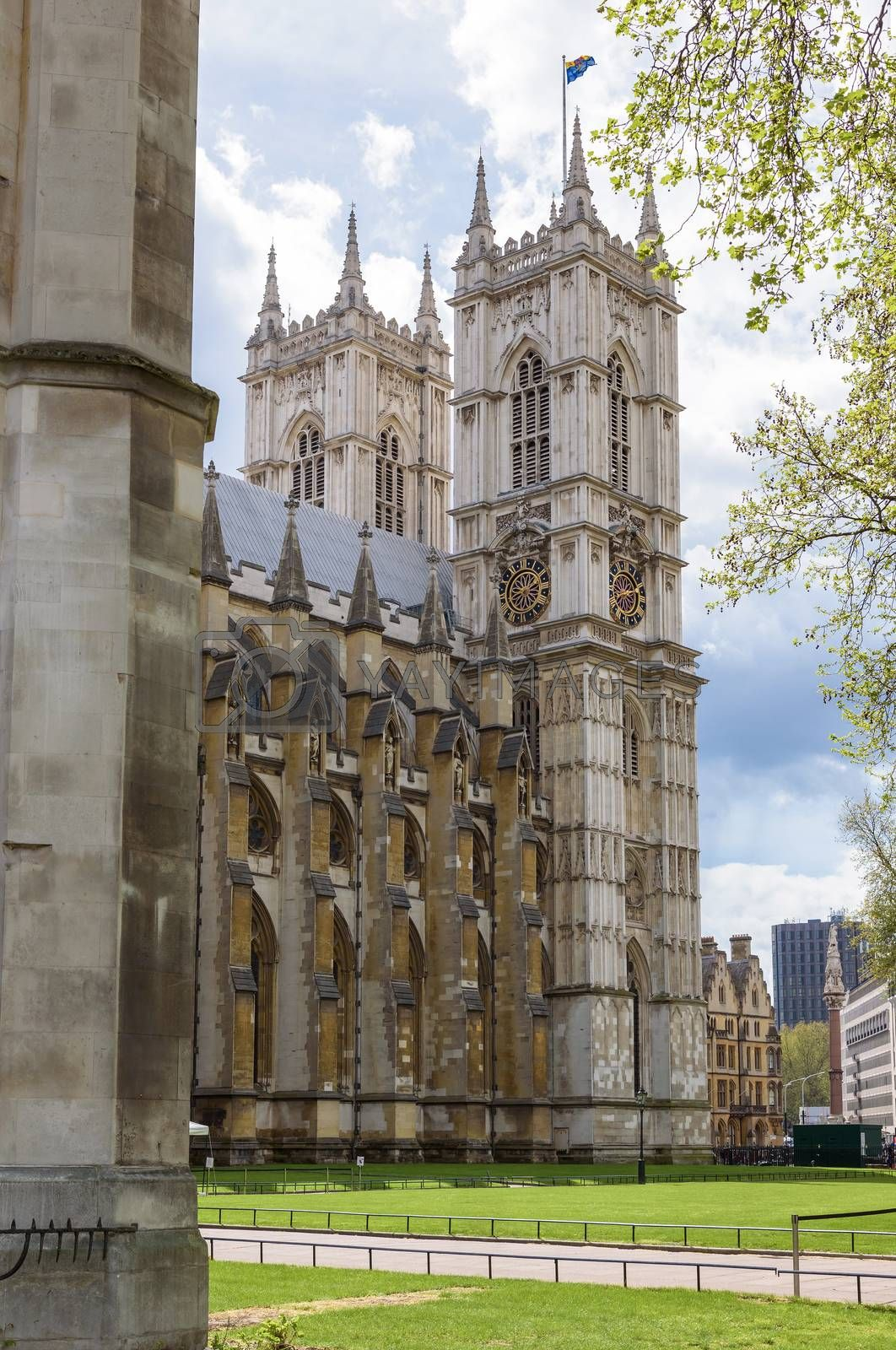 Towers of Westminster Abbey in London in UK