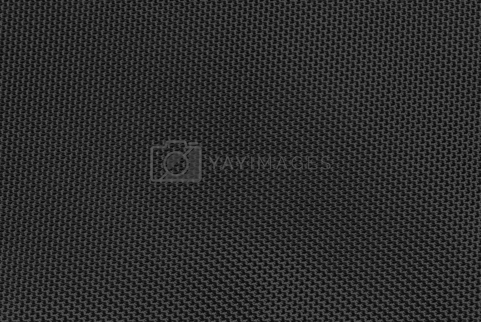 Background or texture made of black woven fiber