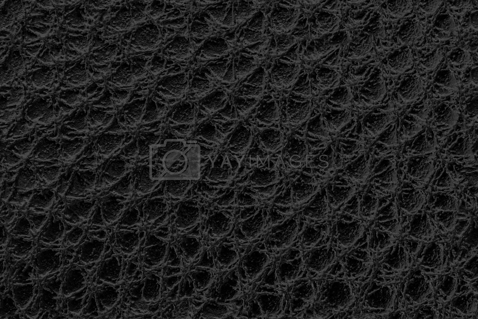 Close up of black leather as seamless texture or background