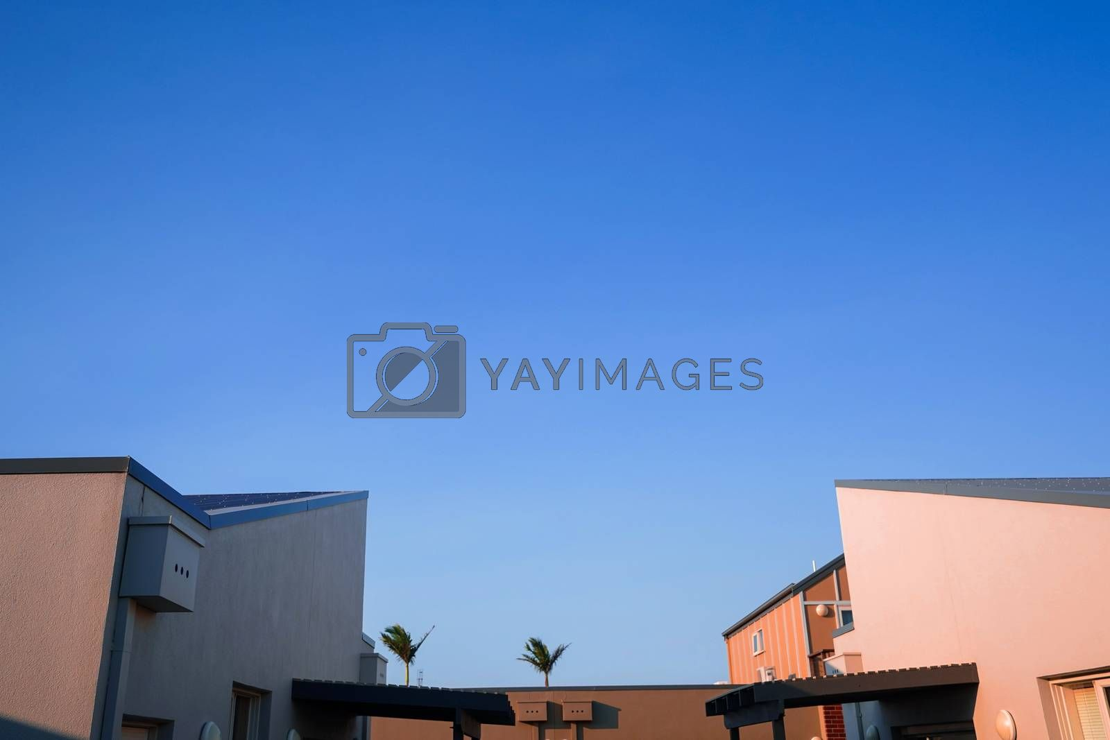 Royalty free image of Modern and minimal residential building with light and shadow, s by nuchylee
