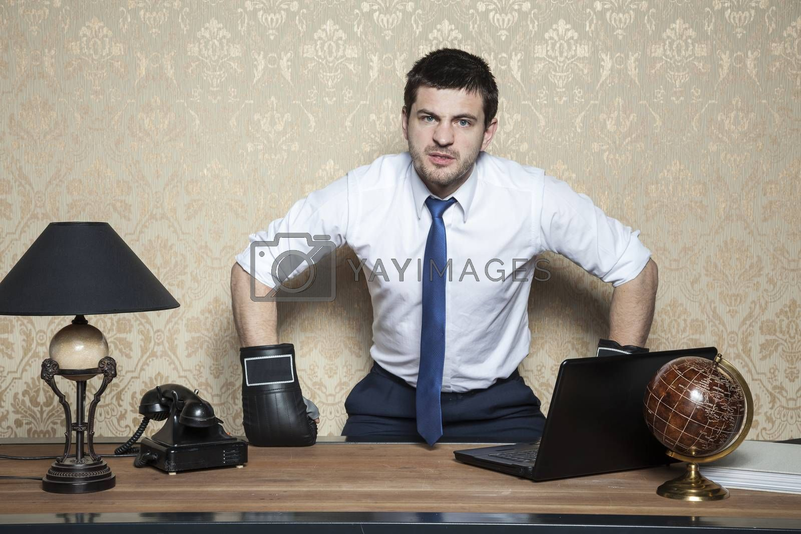 angry and furious businessman