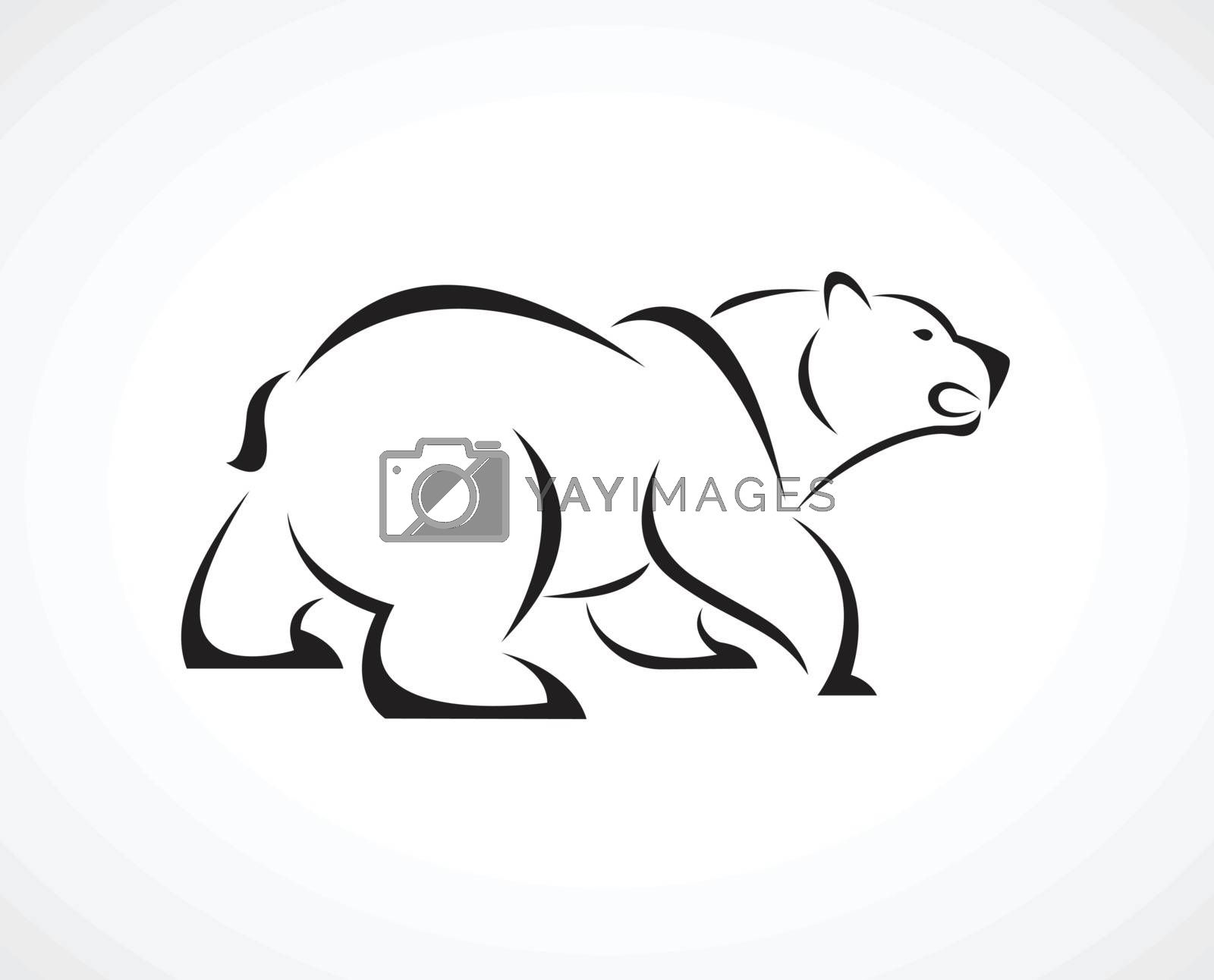 Vector of a bear design on white background. Wild Animals. Easy editable layered vector illustration.