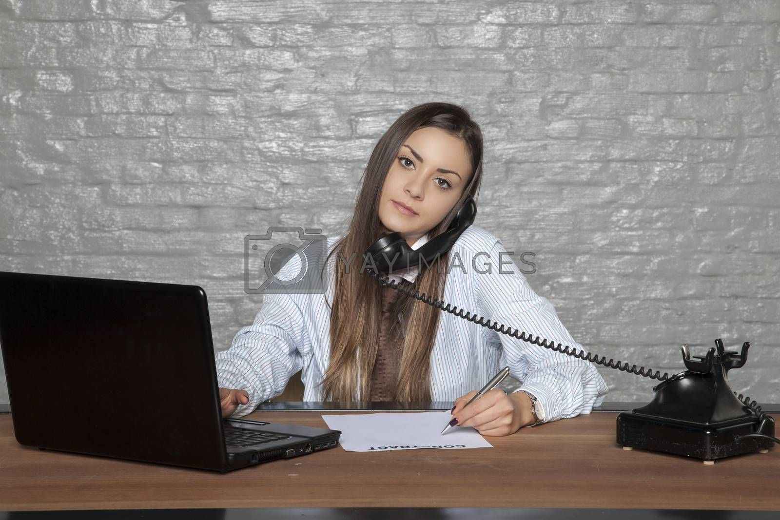 telephone conversation and signing documents at the same time