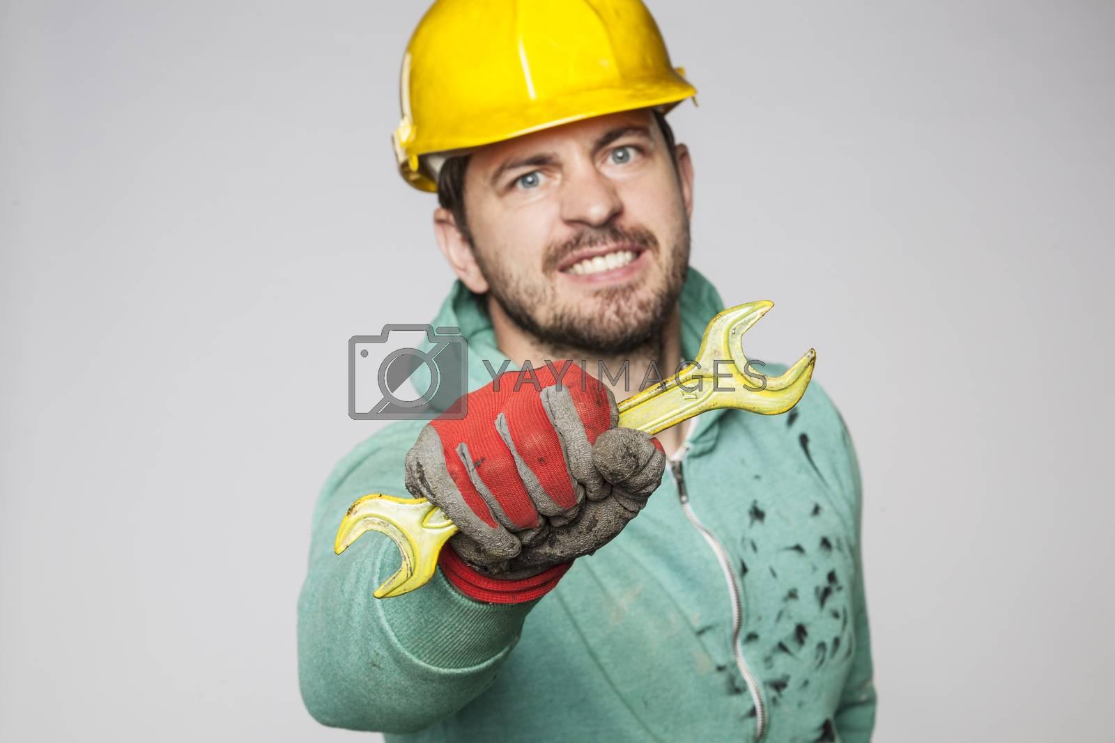 Handyman worker, ready to help