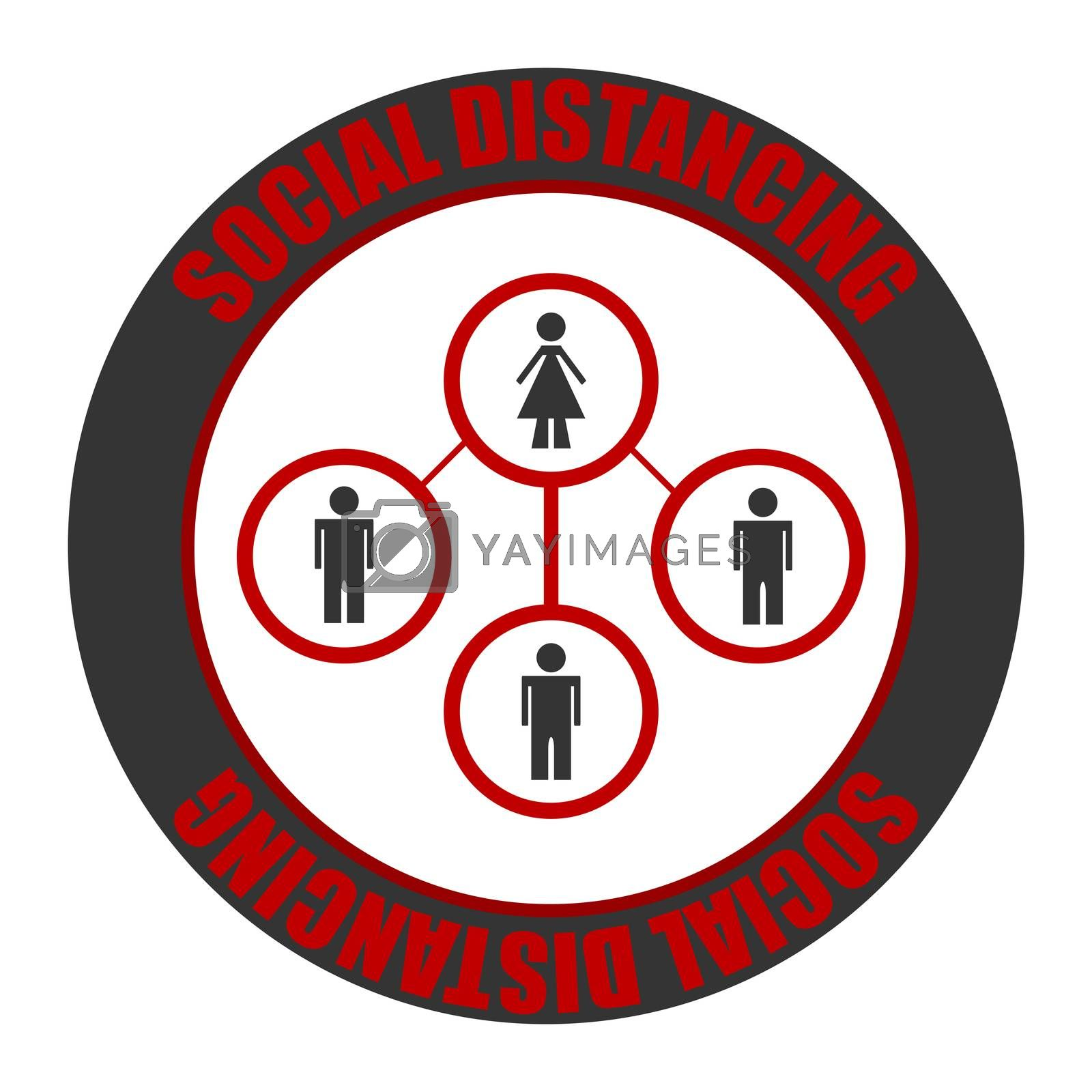Social distancing icon. Coronavirus outbreak. Social distancing concept. Protection from Covid-19. Coronavirus. Covid 19 prevention icons set. by fotoscool