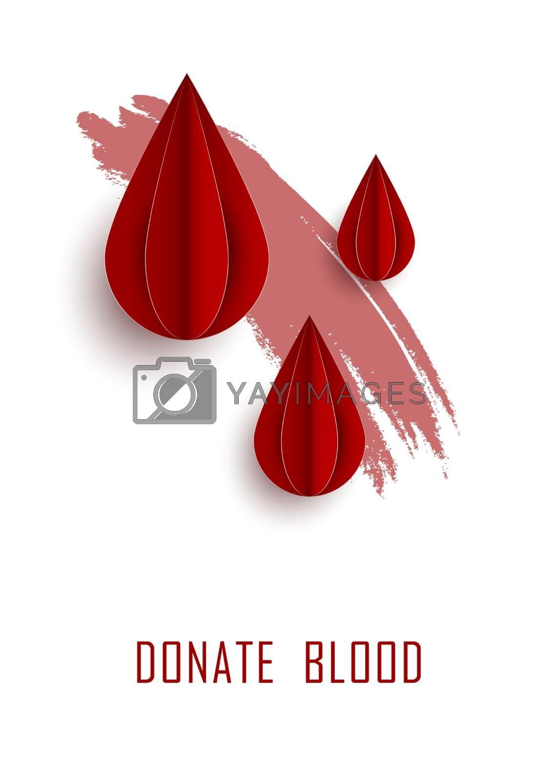 blood drop paper day blood donation background.
