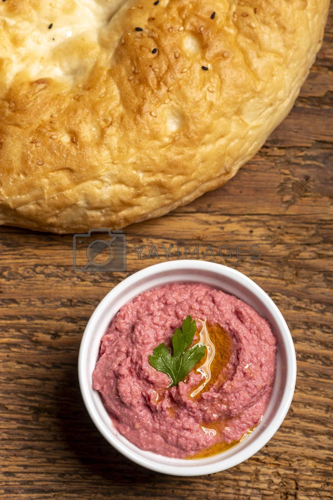 arabic humus spread with bread