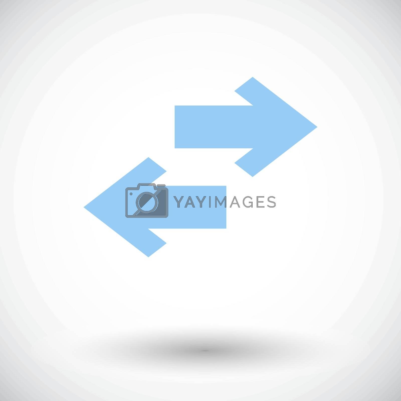 Arrow. Single flat icon on white background. Vector illustration.