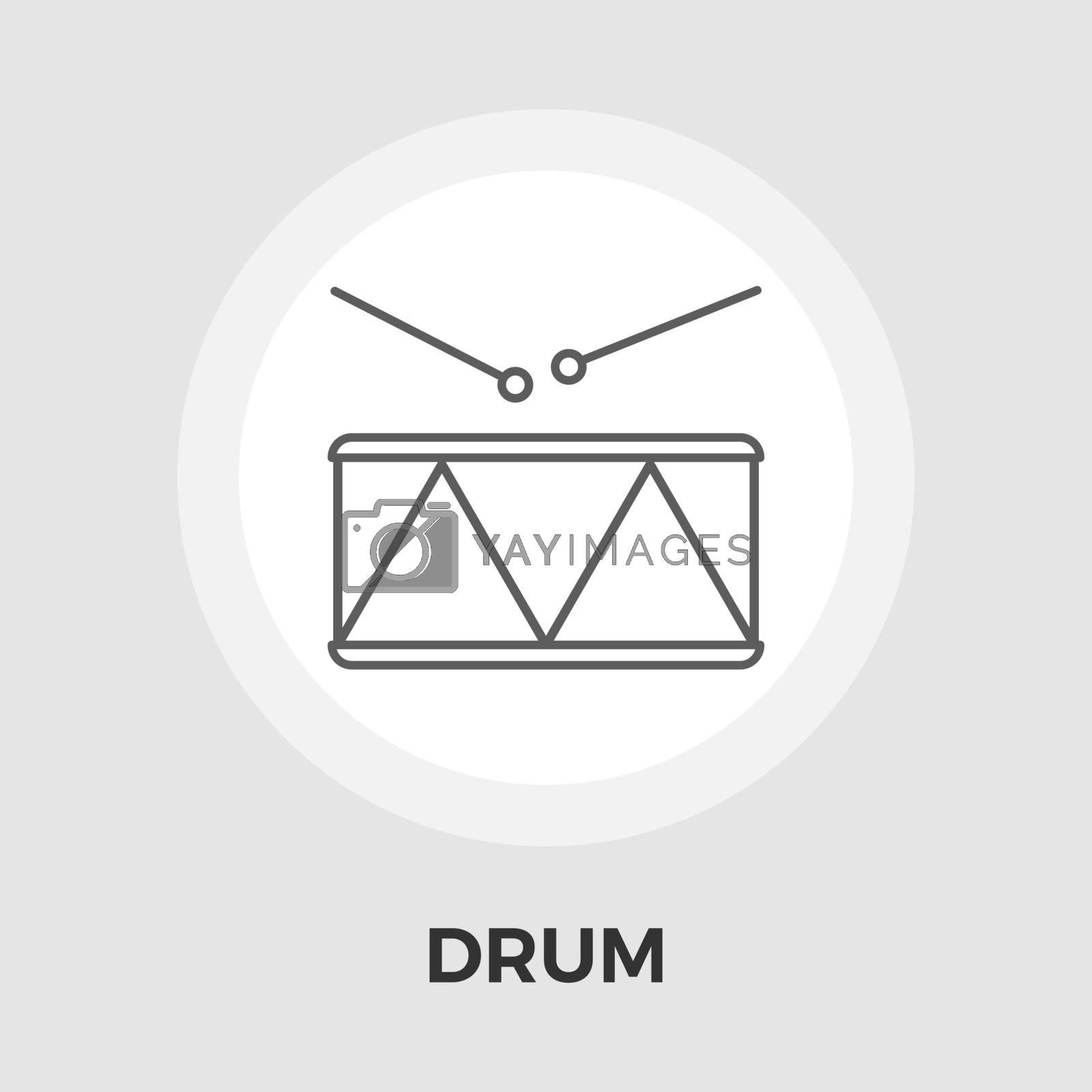 Drum vector flat icon by smoki
