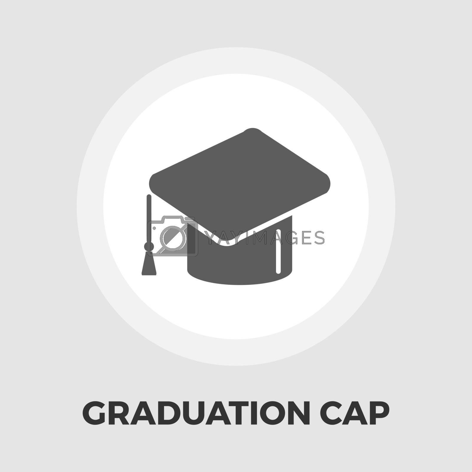 Education icon vector. Flat icon isolated on the white background. Editable EPS file. Vector illustration.