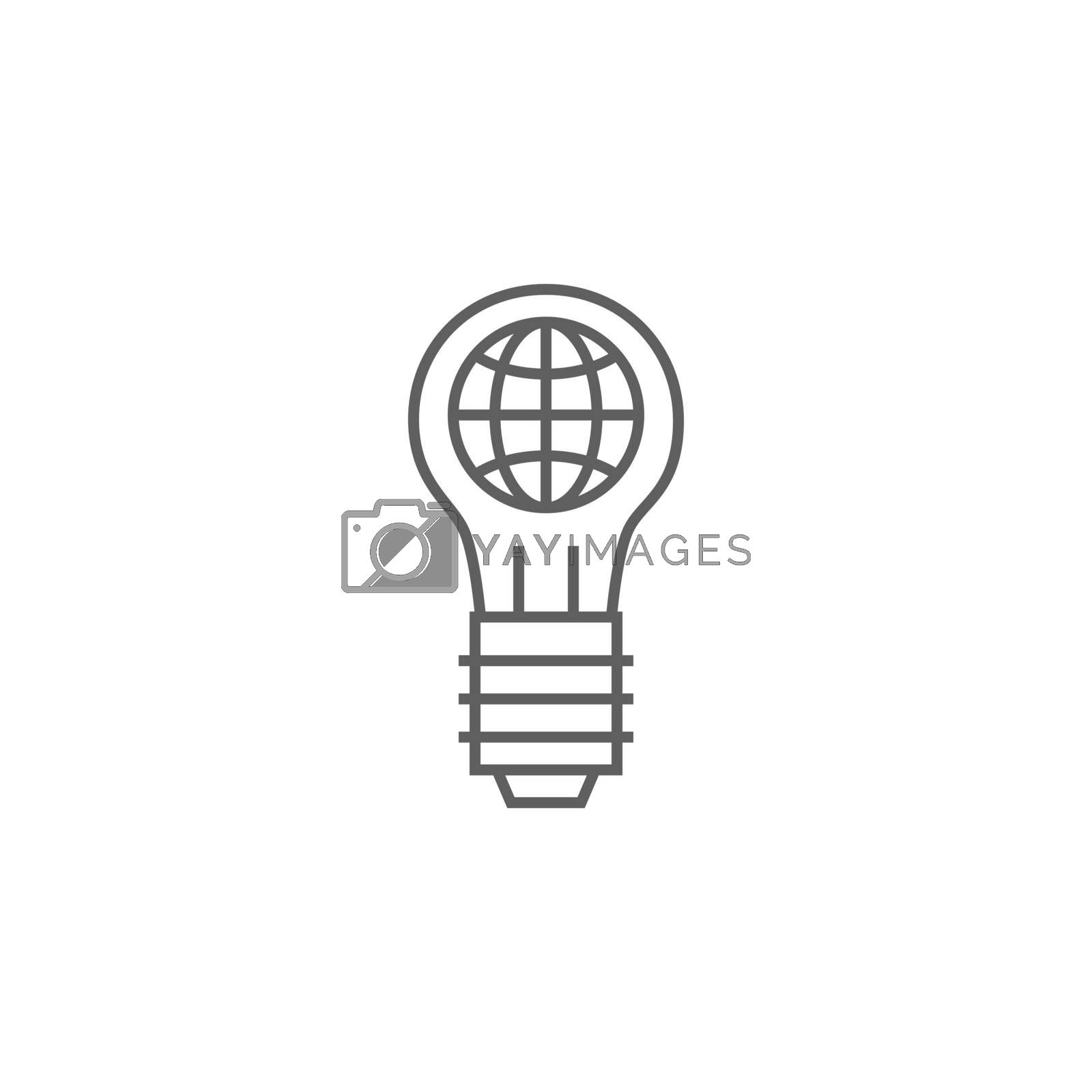 Global Solution Related Vector Thin Line Icon. Isolated on White Background. Editable Stroke. Vector Illustration.