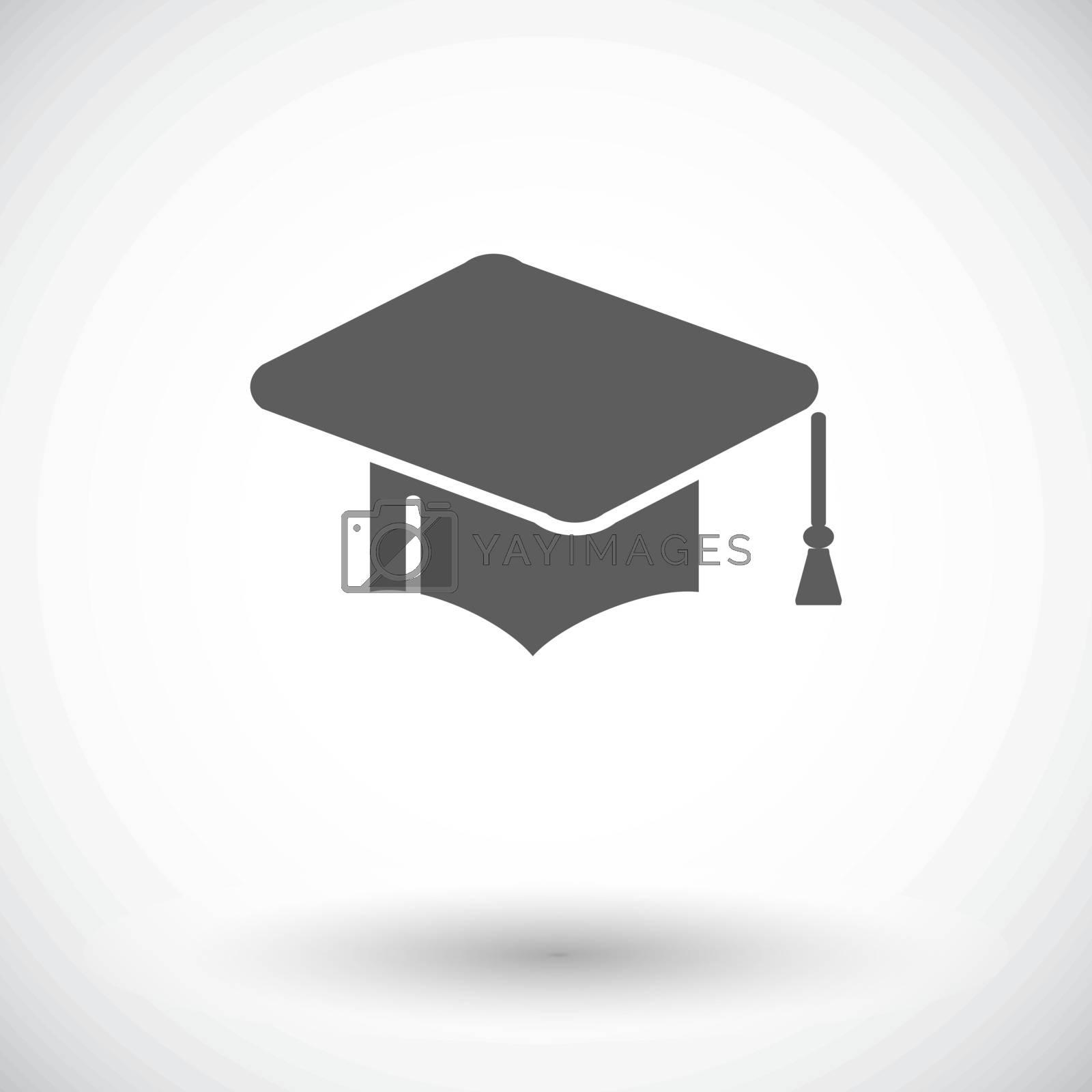 Education. Single flat icon on white background. Vector illustration.