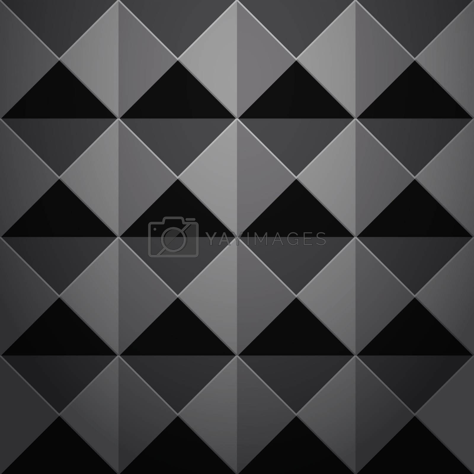 Abstract 3d dark geometric background. Simple clean dark background texture. 3D Vector interior wall panel pattern. Seamless texture.
