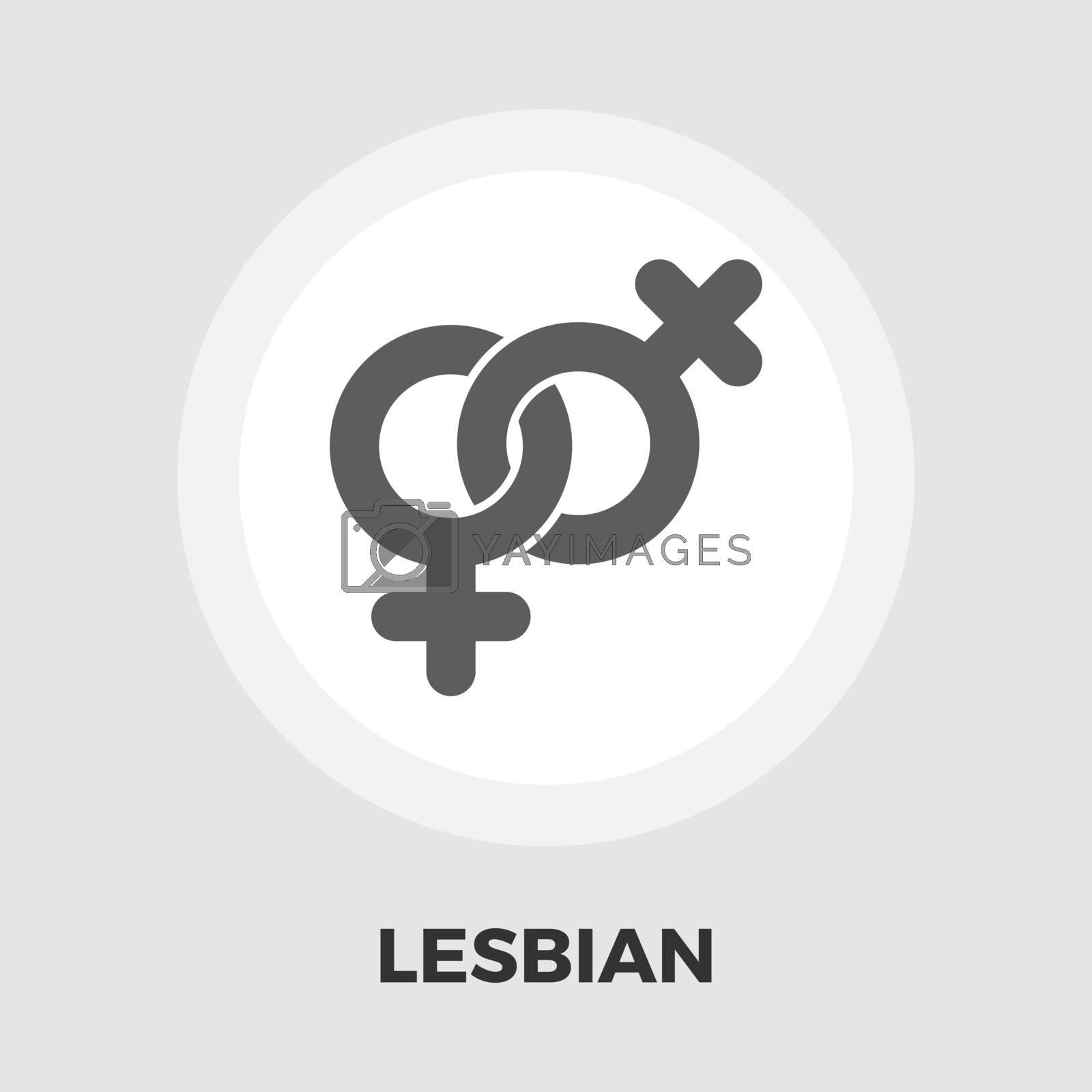 Lesbian sign flat icon by smoki
