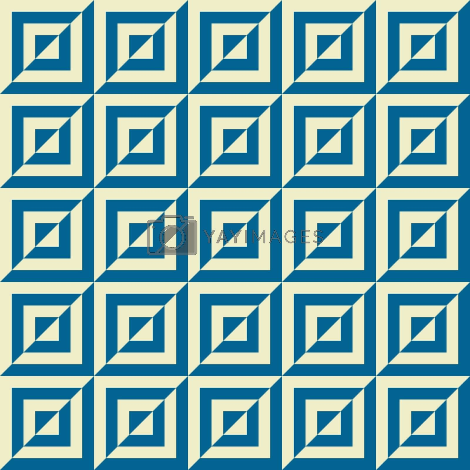 Vintage seamless background of squares. Vector illustration.