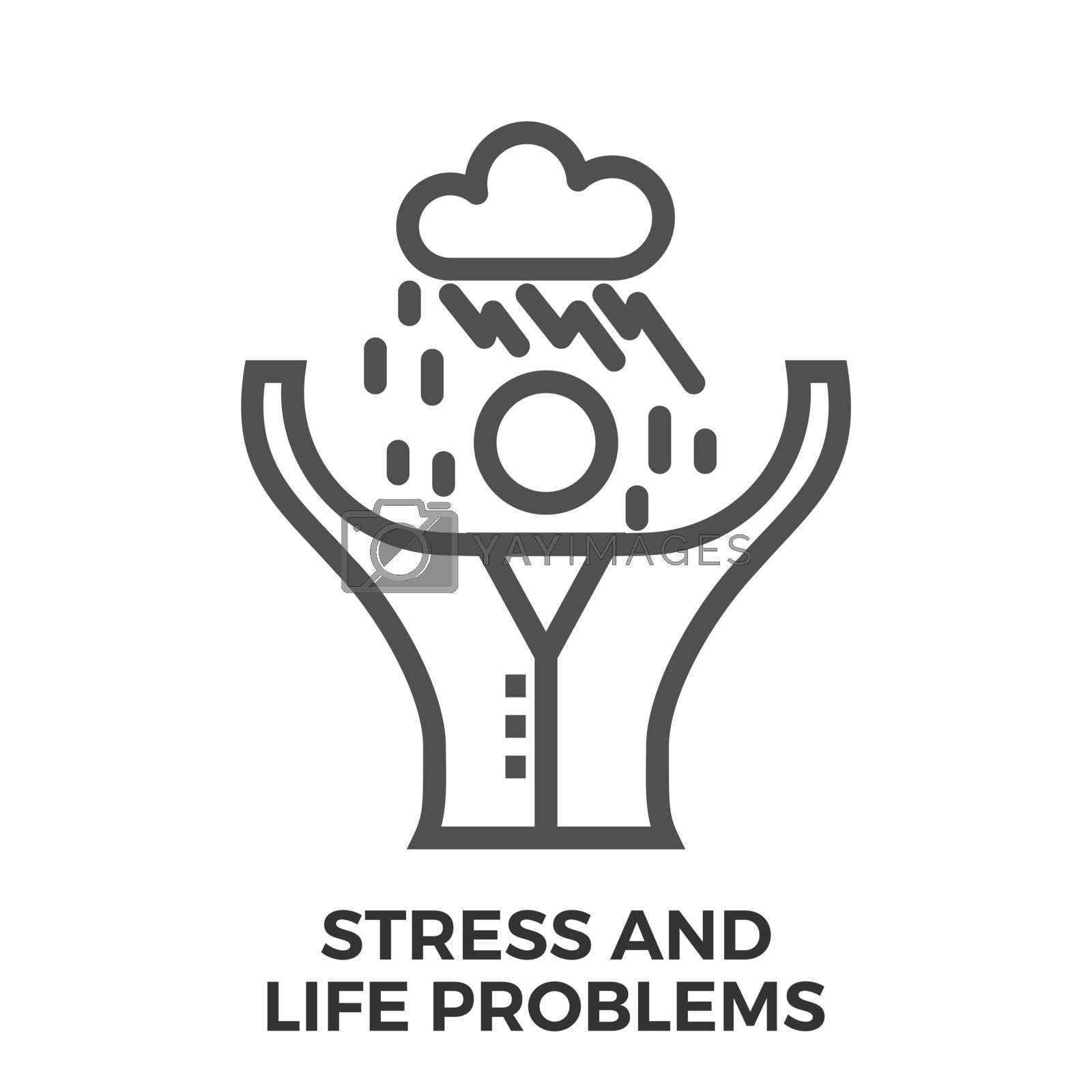 Stress and life problems by smoki