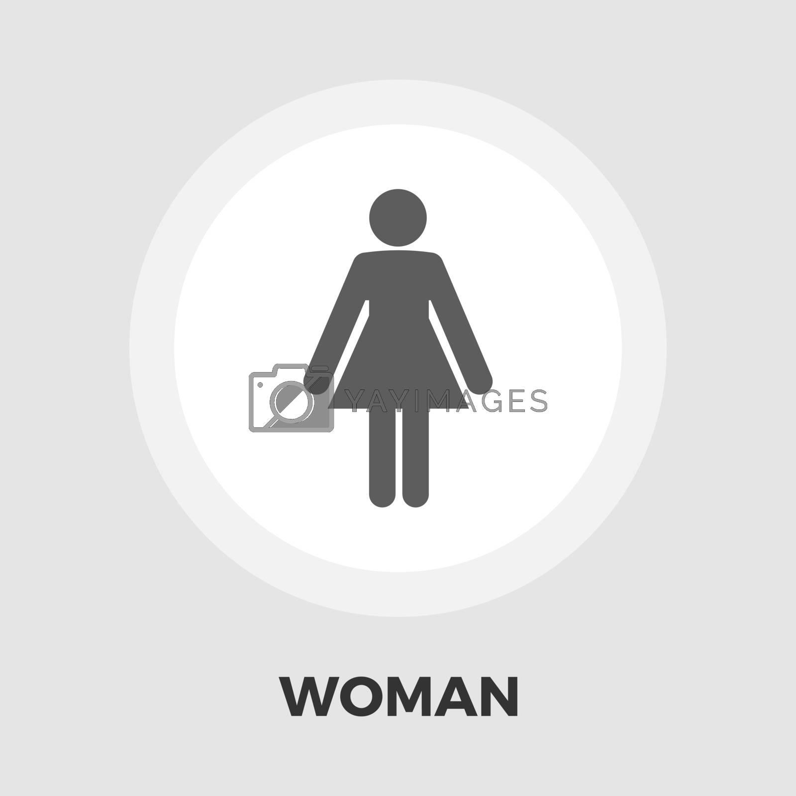 Female gender sign icon flat by smoki