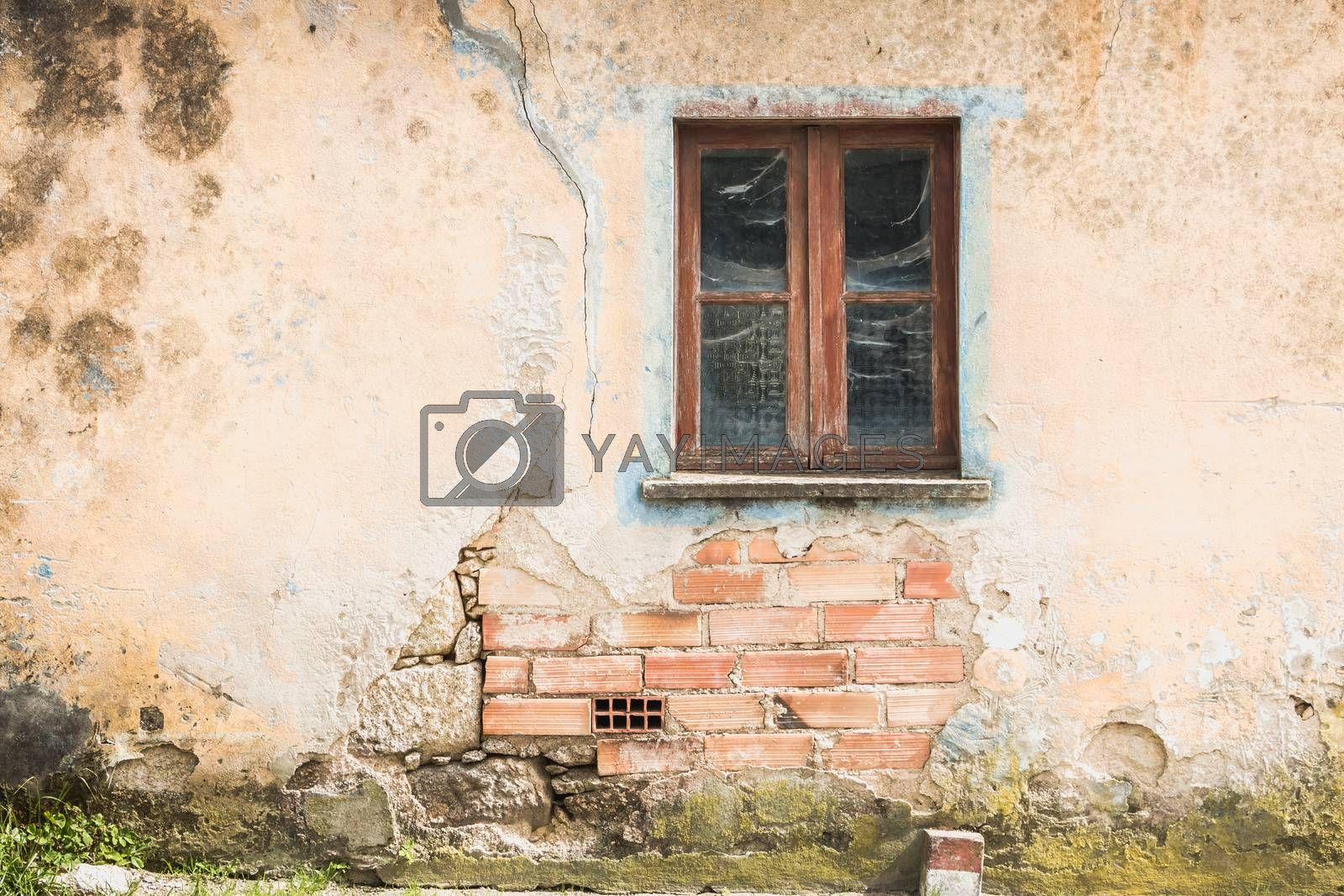 architectural detail of a traditional ancient house in the north of Portugal