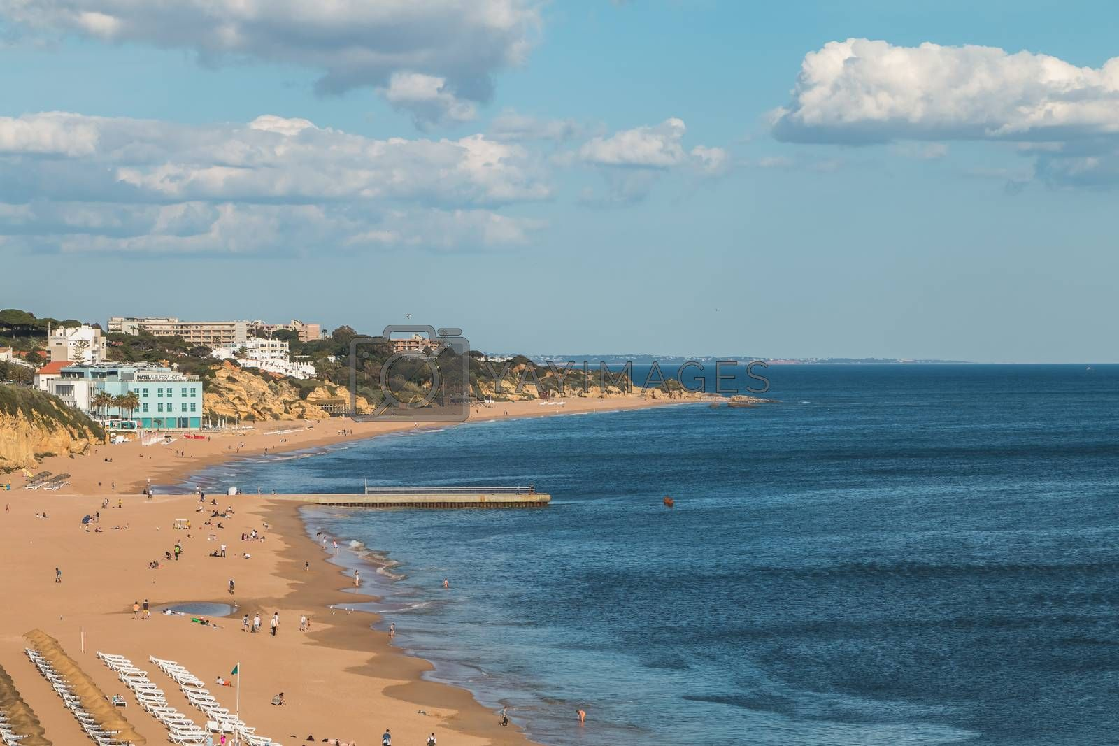 Royalty free image of High view of the city beaches in Albufeira, Portugal by AtlanticEUROSTOXX