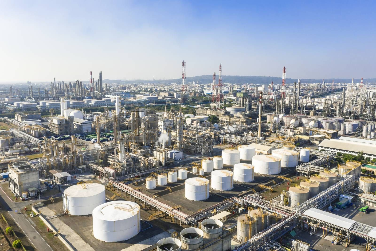 Royalty free image of Aerial view of industrial area with chemical plant by tomwang