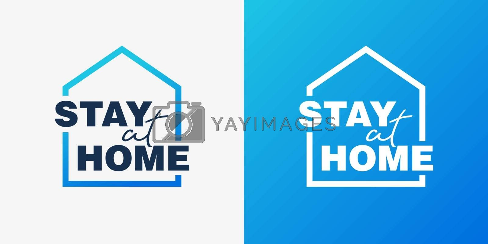 Stay home campaign logo concept by ersp