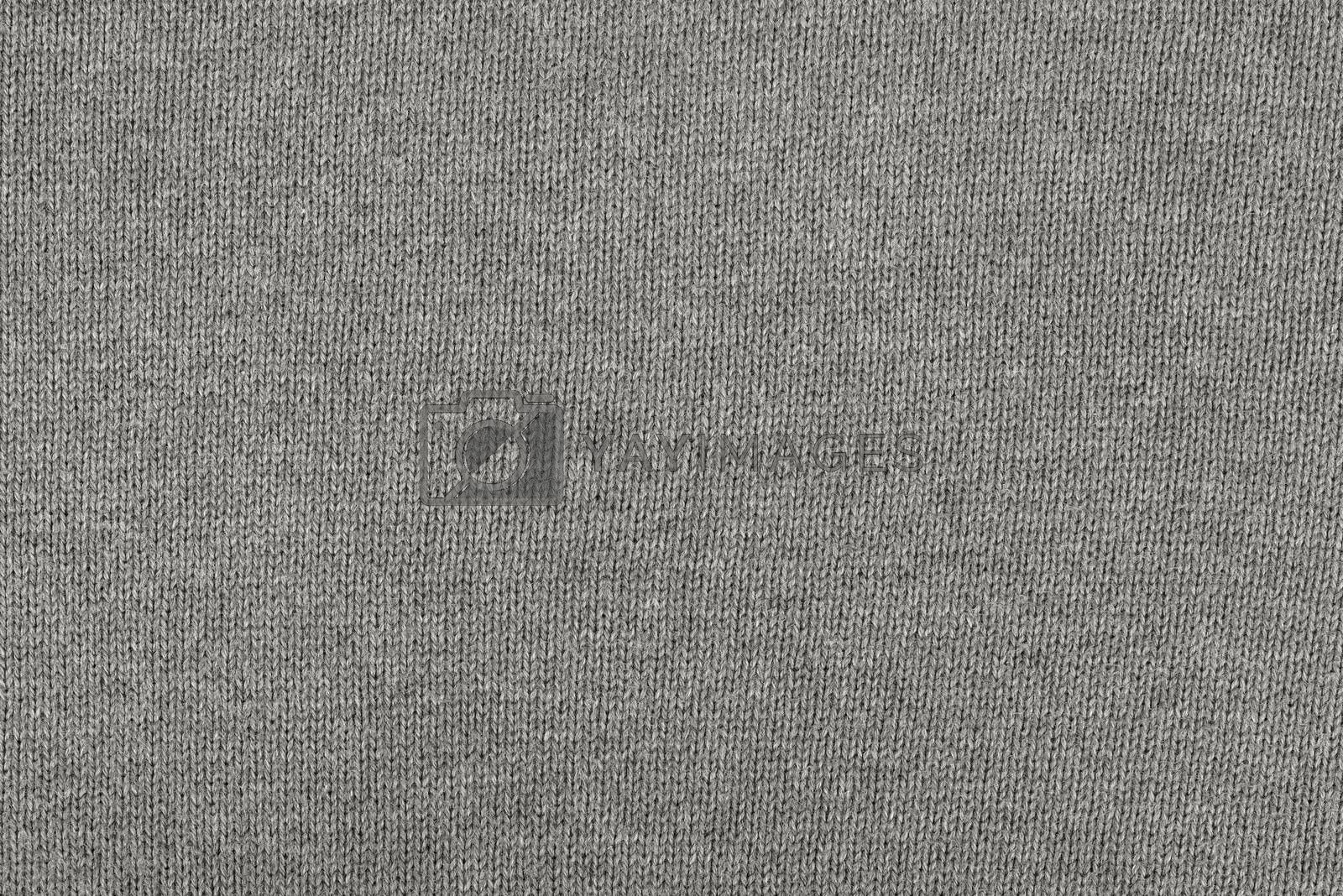 Detailed gray cotton fabric texture or background