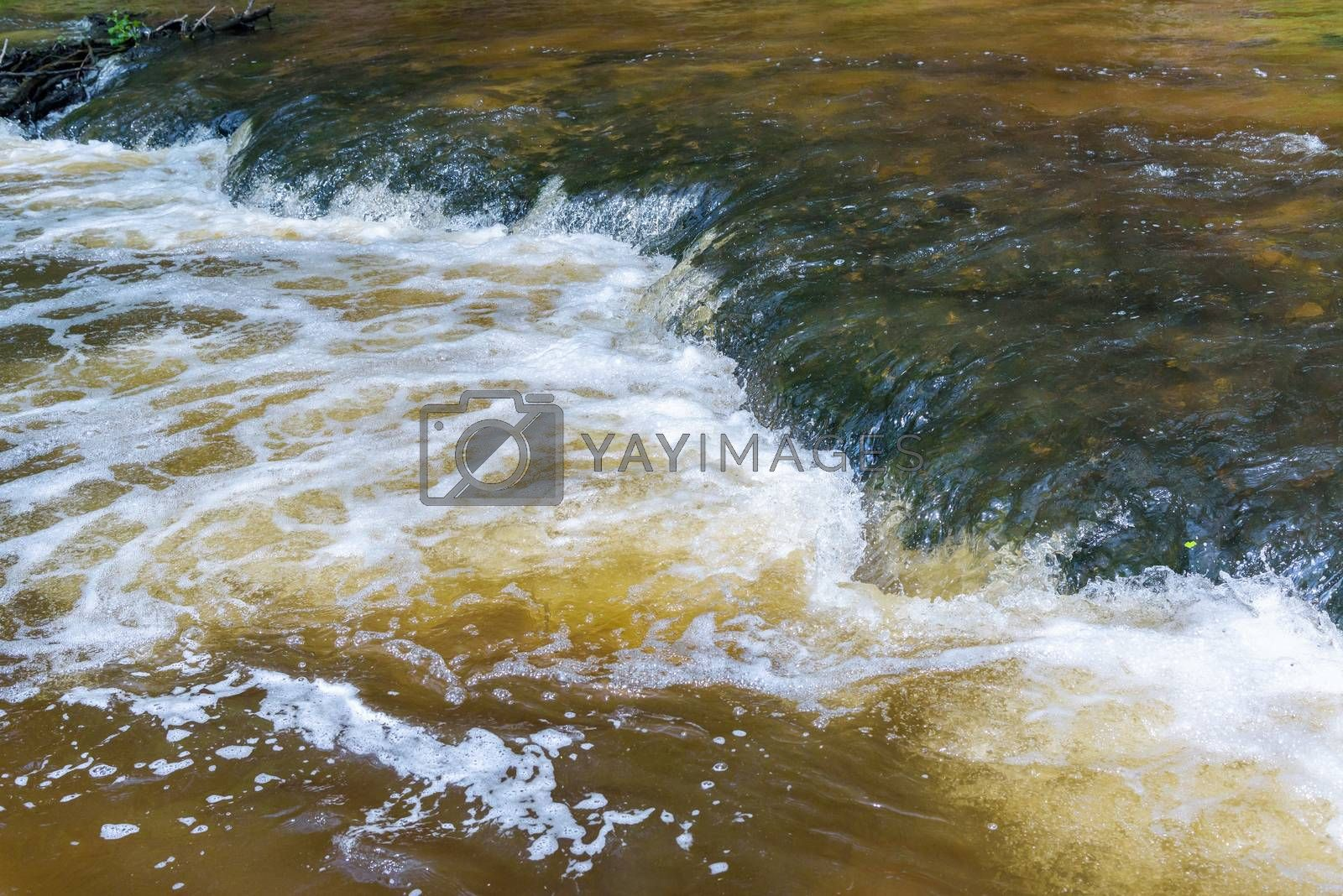 Royalty free image of Abstract background made of flowing water by mkos83