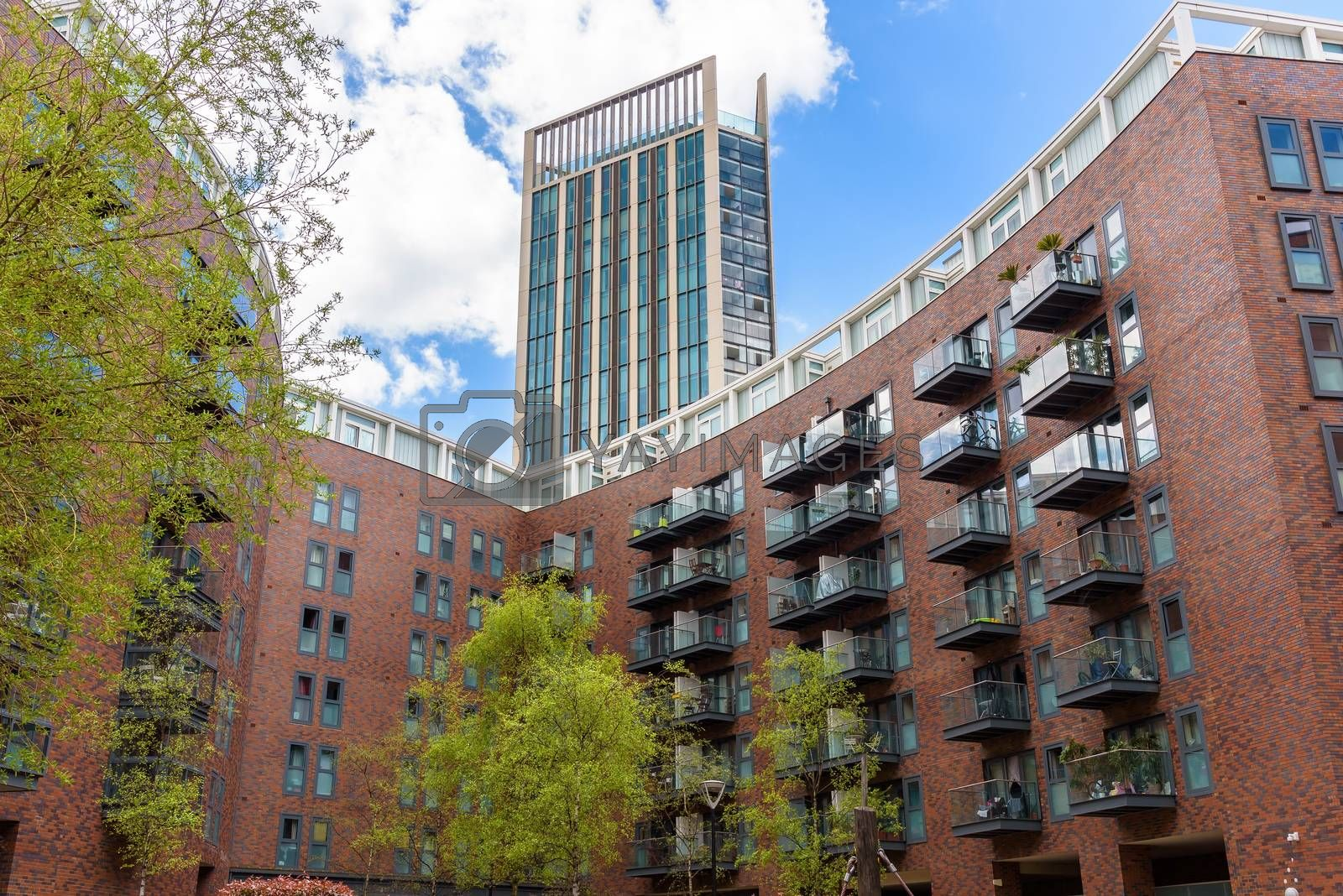 Residential buildings at Canada Water in Londons docklands, UK