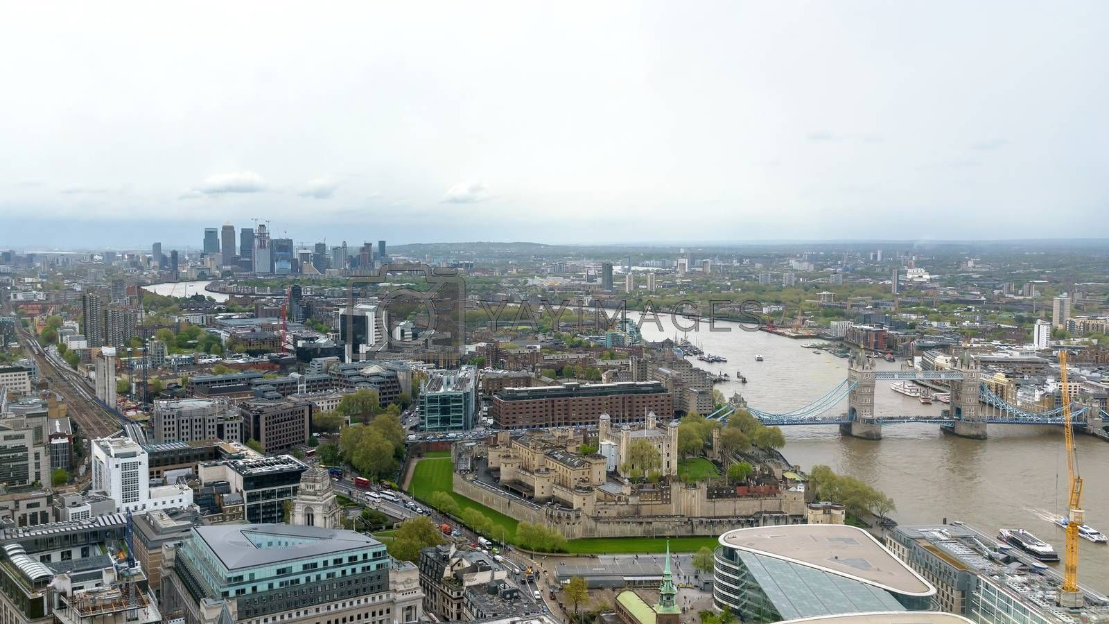 Royalty free image of Panorama of London on a cloudy day by mkos83