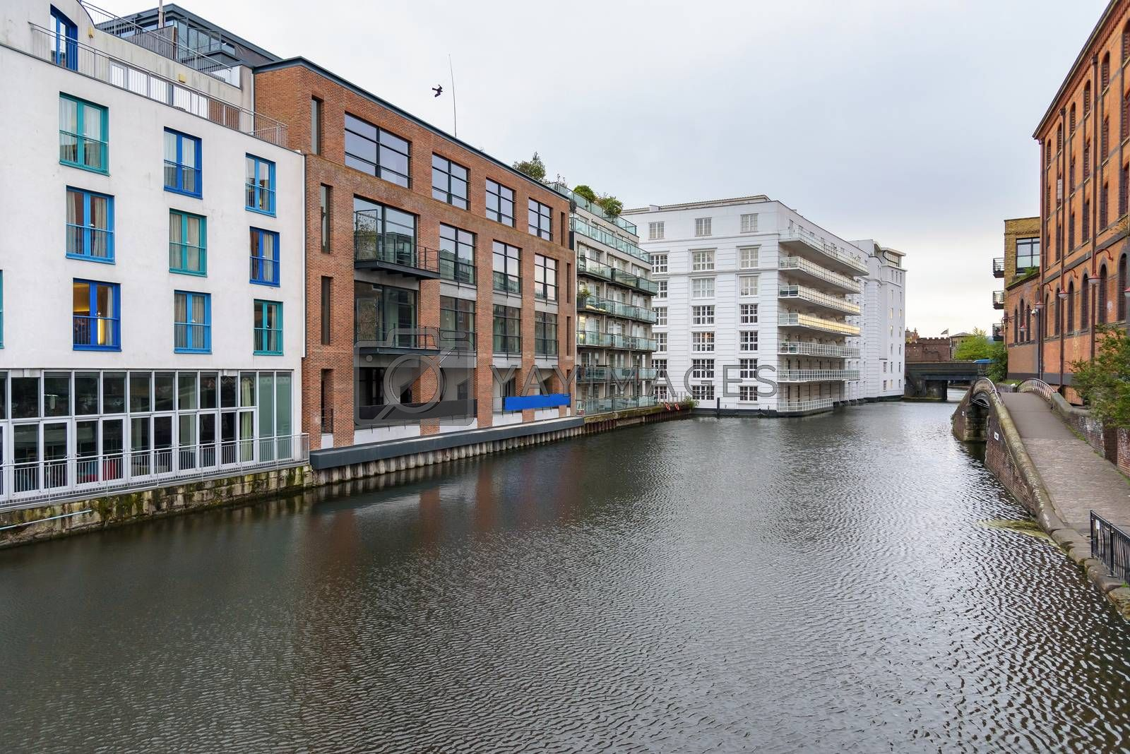 Royalty free image of Regents Canal in Camden Town by mkos83