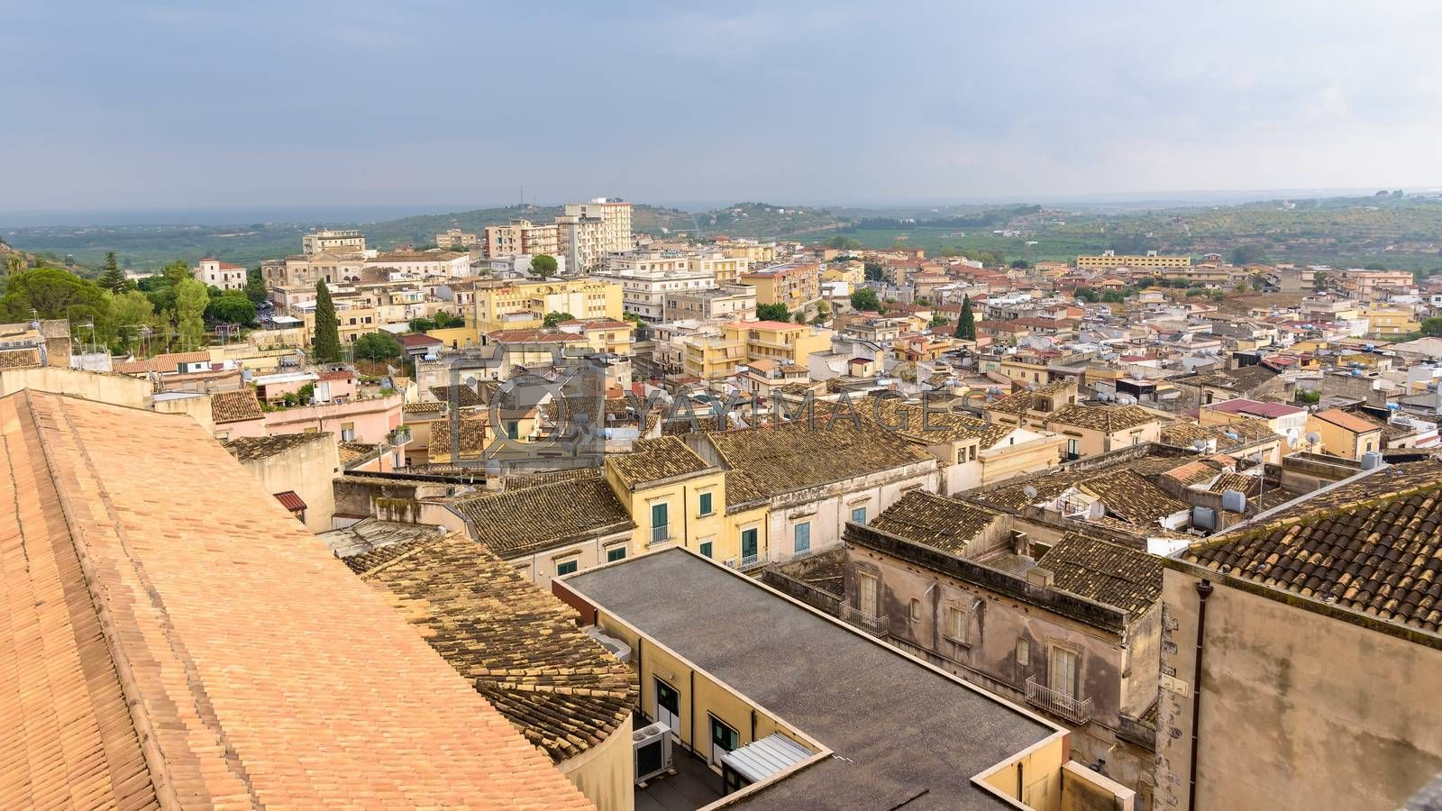 Royalty free image of Aerial view of Noto town by mkos83