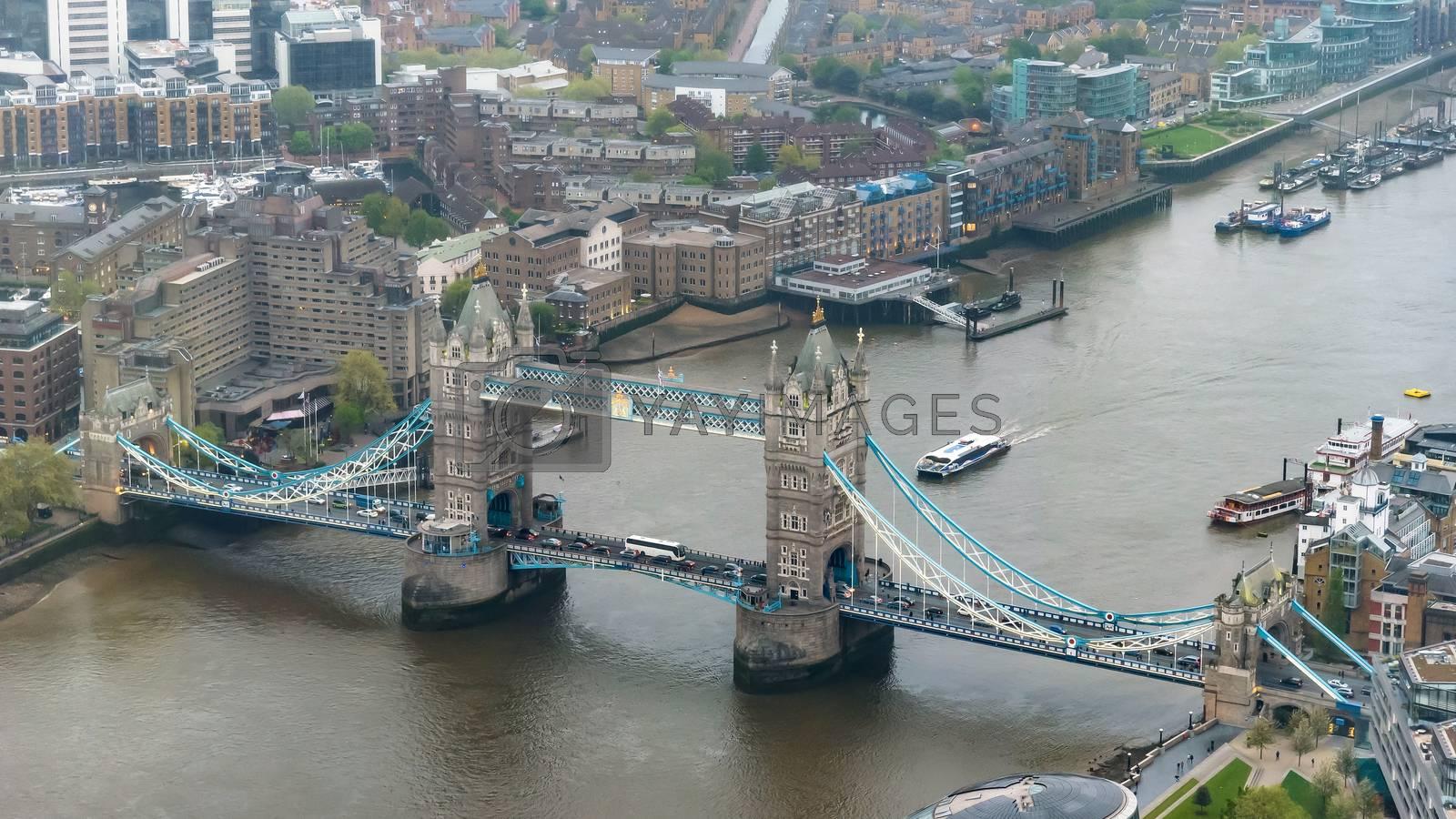 Royalty free image of Aerial view of Tower Bridge in London by mkos83