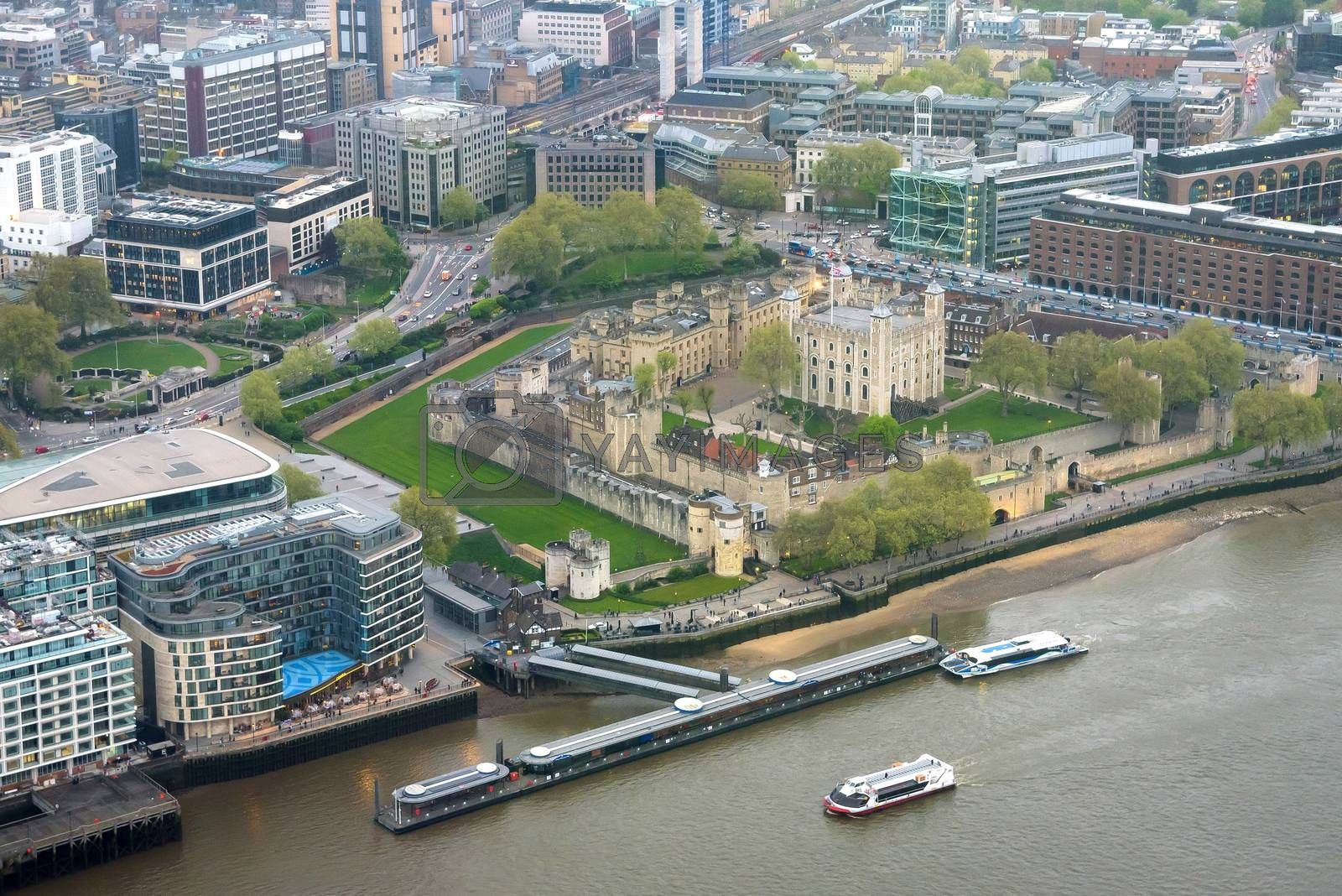Royalty free image of Aerial view of Tower of London by mkos83