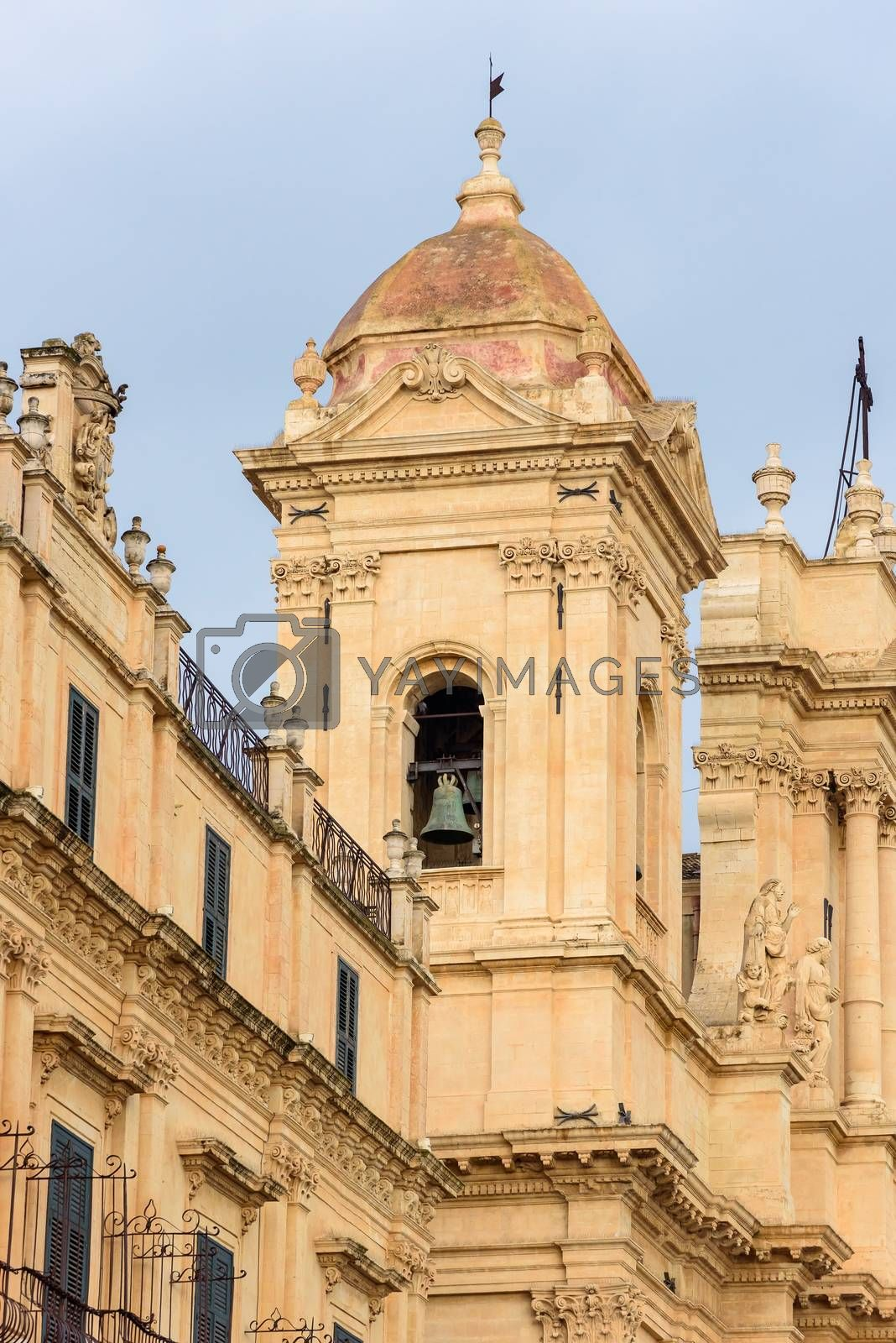 Royalty free image of Belltower of the Cathedral of Noto by mkos83