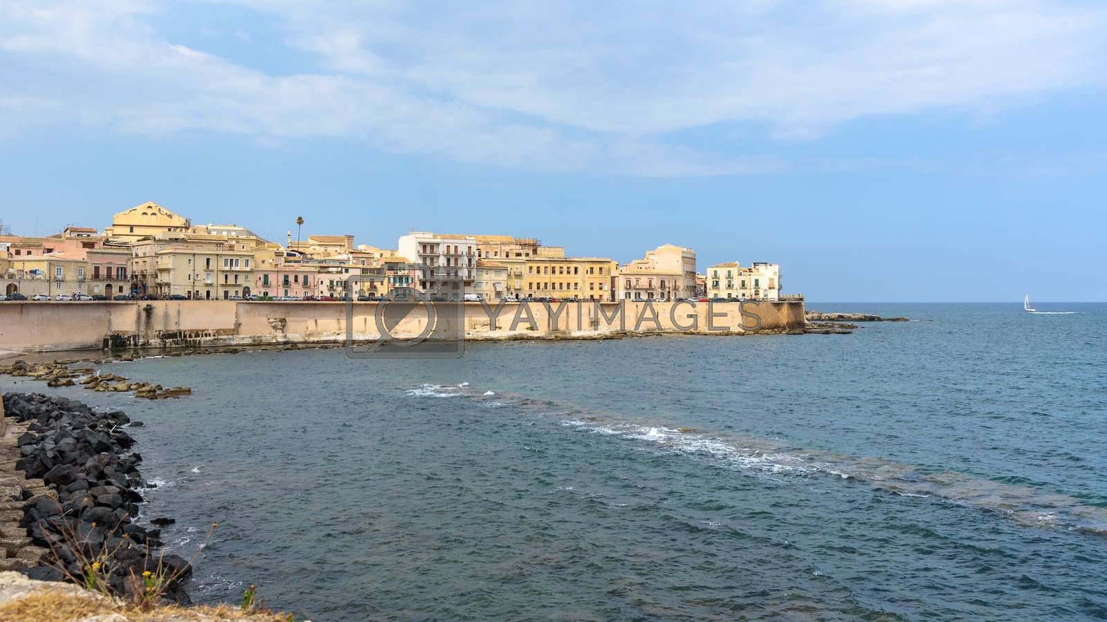 Royalty free image of Waterfront of Ortygia Island in Syracuse by mkos83